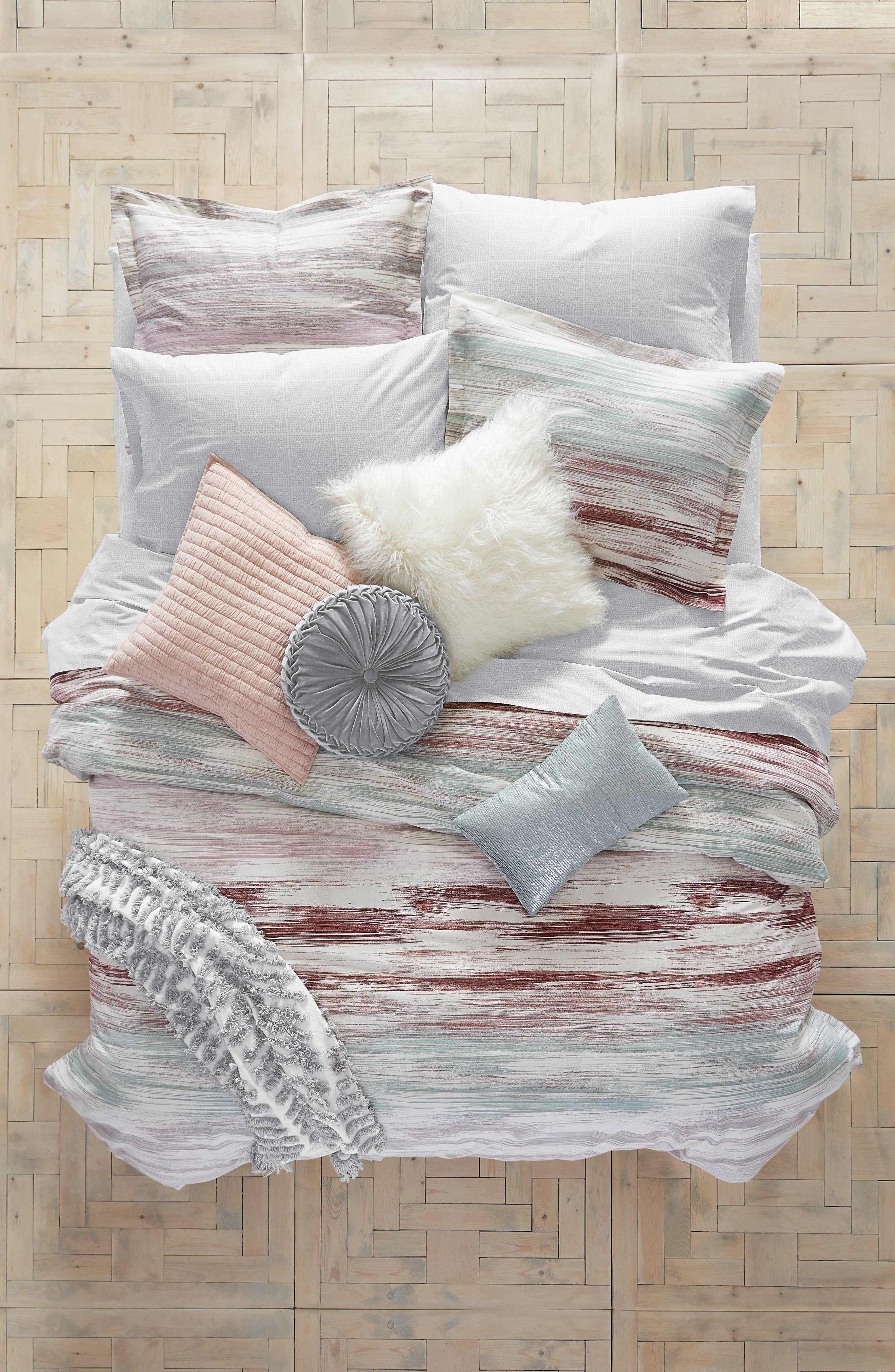 Midnight Brushstrokes Duvet Cover & Sham Set,                         Main,                         color,