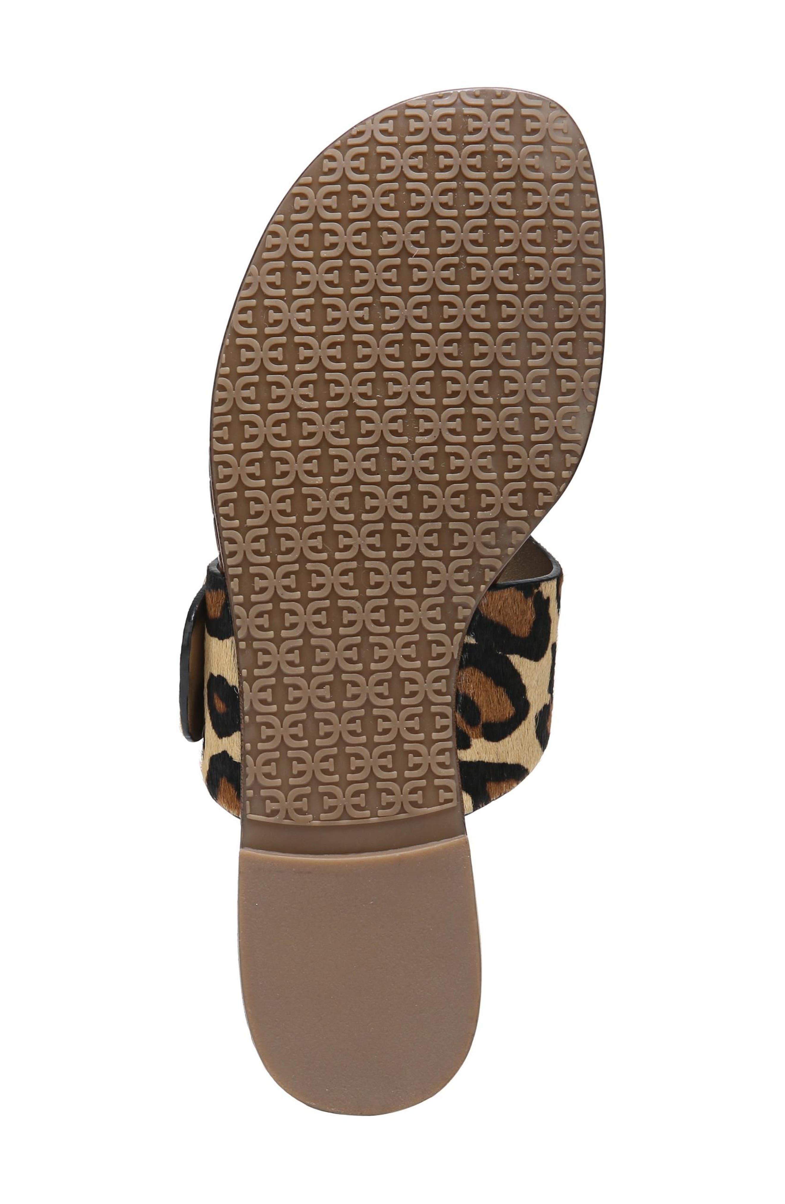 Barry Genuine Calf Hair V-Strap Sandal,                             Alternate thumbnail 6, color,                             New Nude Leopard Brahma Hair