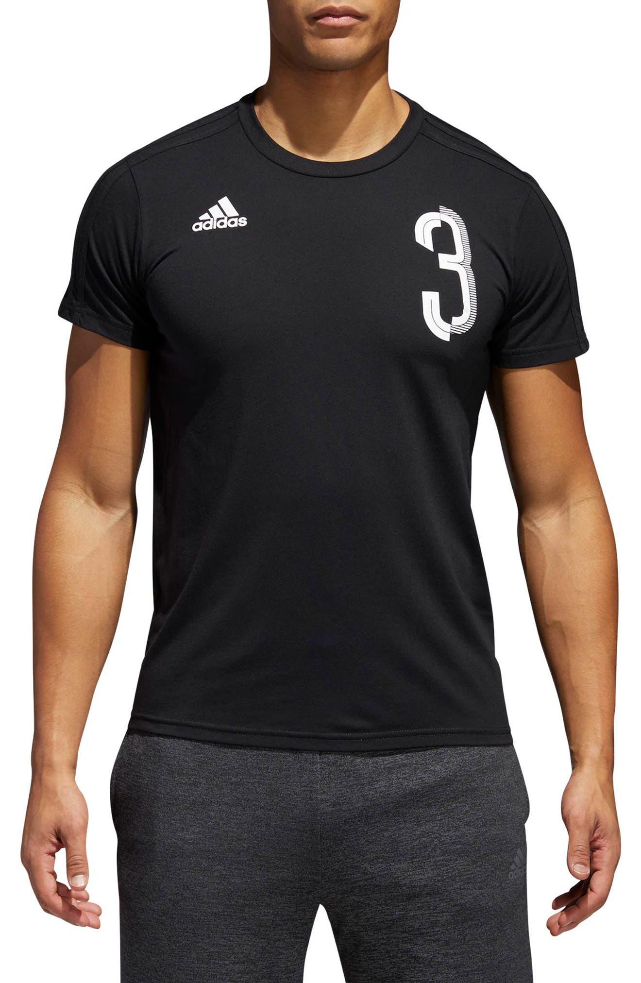 Soccer Slim Fit T-Shirt,                             Main thumbnail 1, color,                             Black / White
