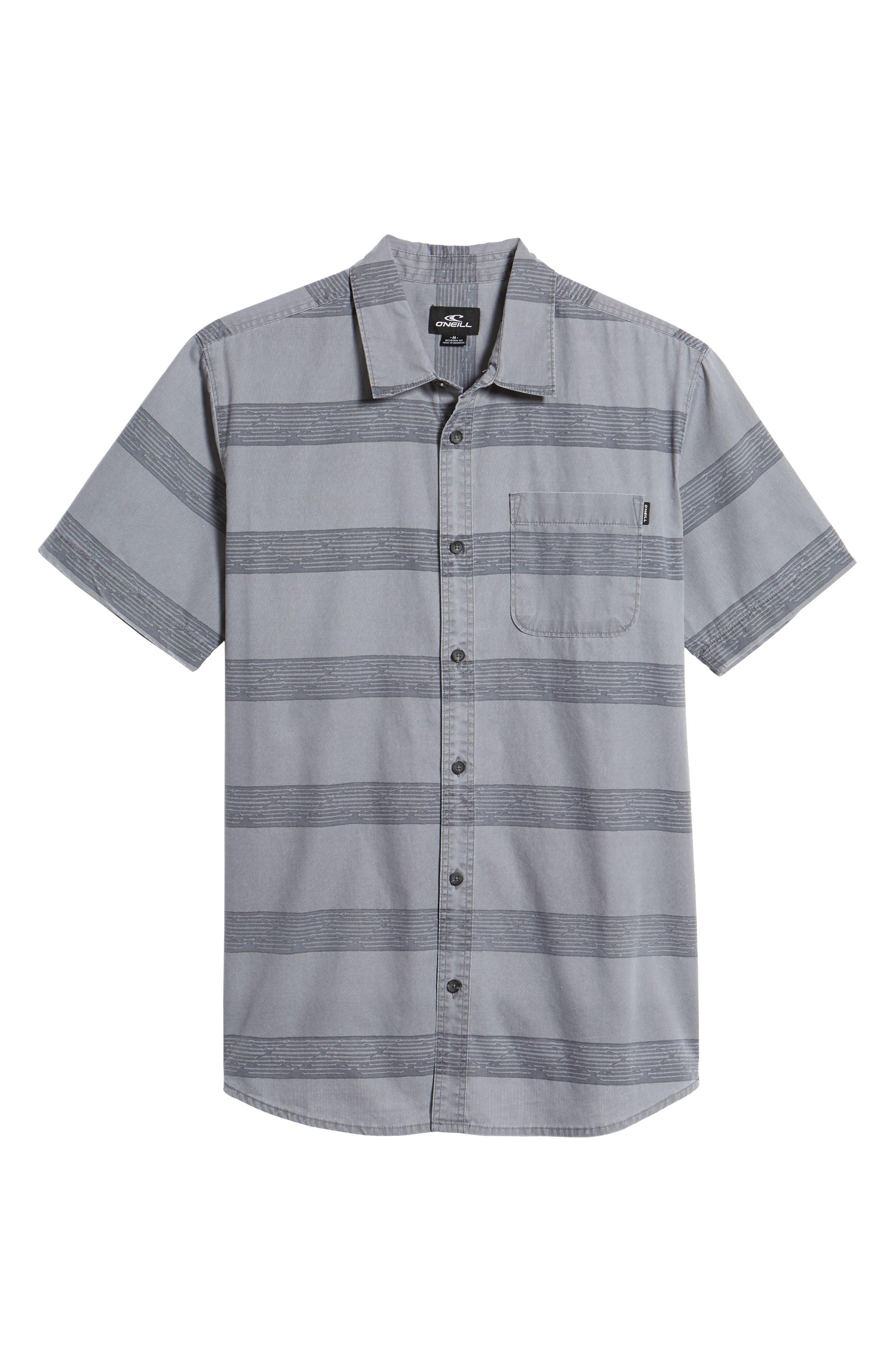 Wagner Woven Shirt,                             Alternate thumbnail 6, color,                             Fog