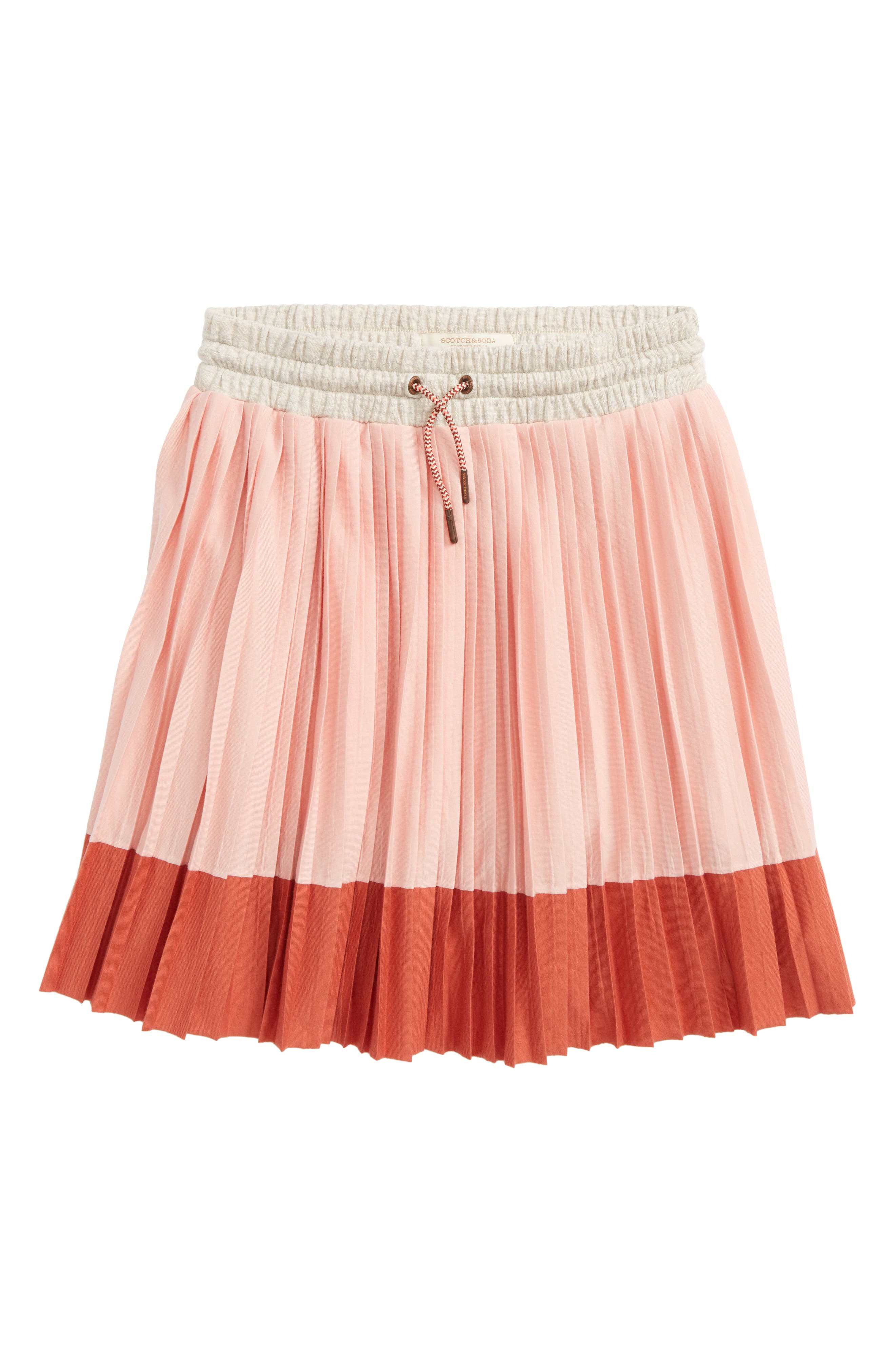Scotch R'Belle Pleated Jersey Skirt,                             Main thumbnail 1, color,                             Pink