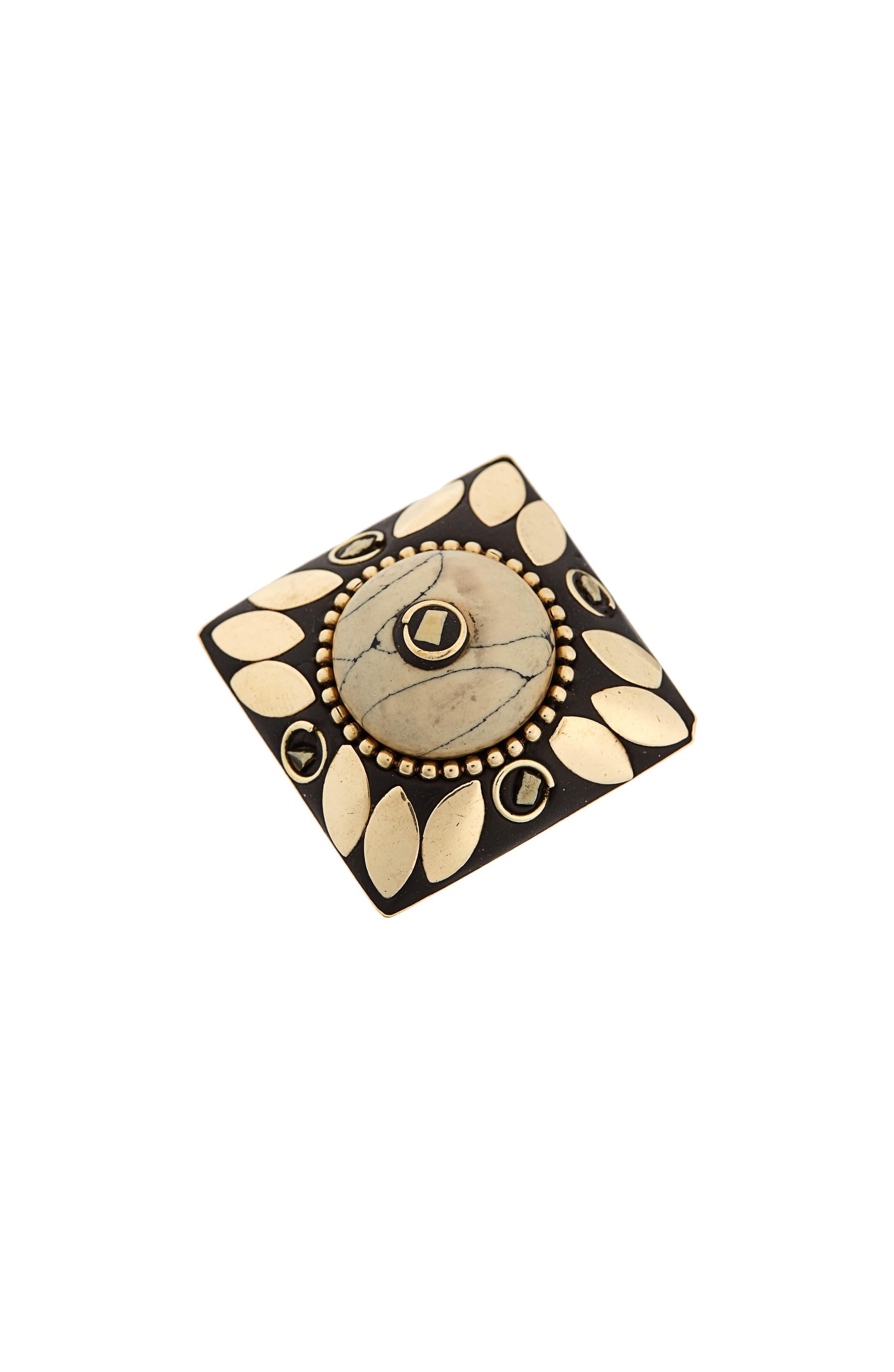 Jema Adjustable Ring,                             Main thumbnail 1, color,                             Ivory