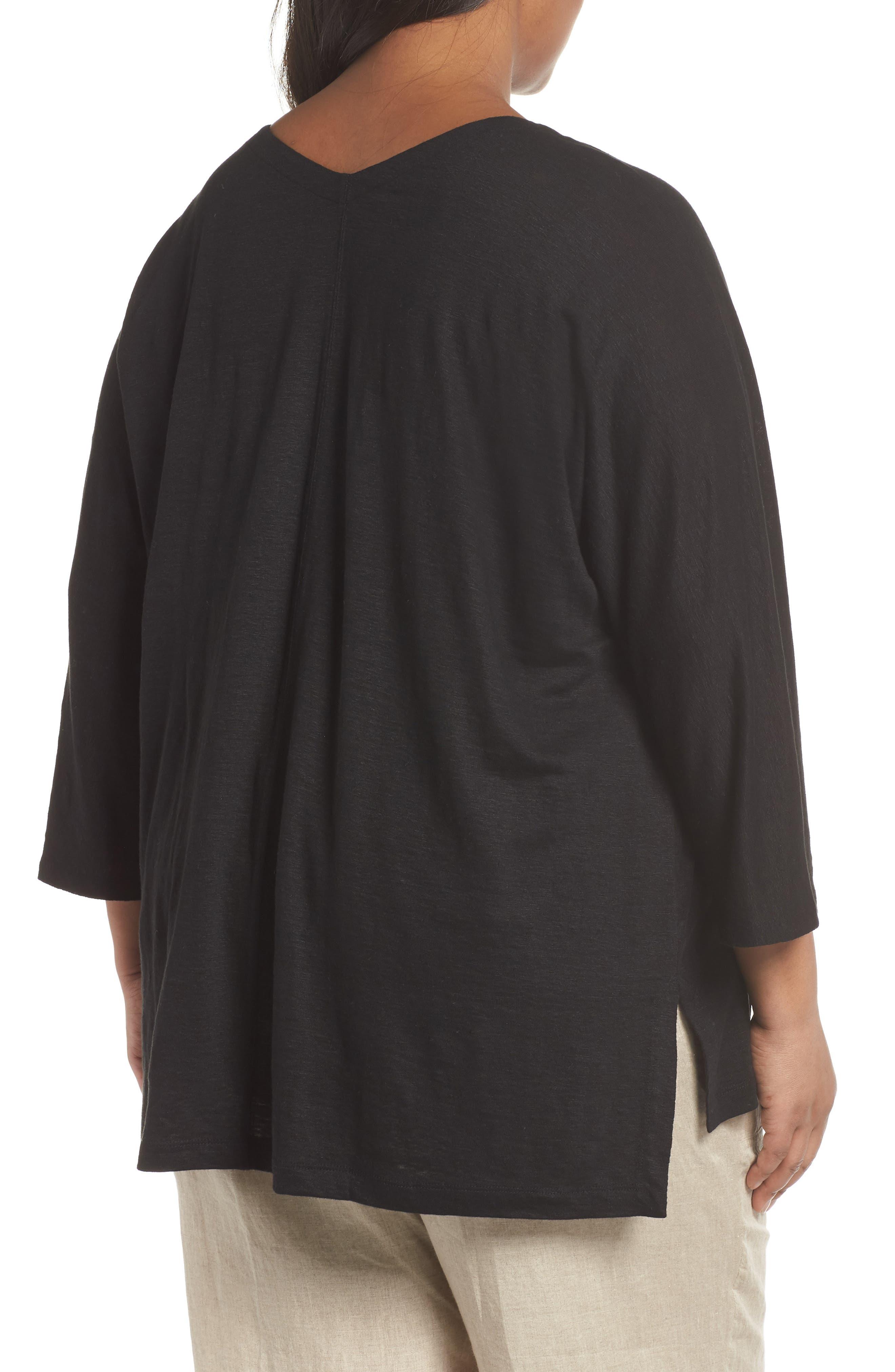 Alternate Image 2  - Eileen Fisher Organic Linen Top (Plus Size)
