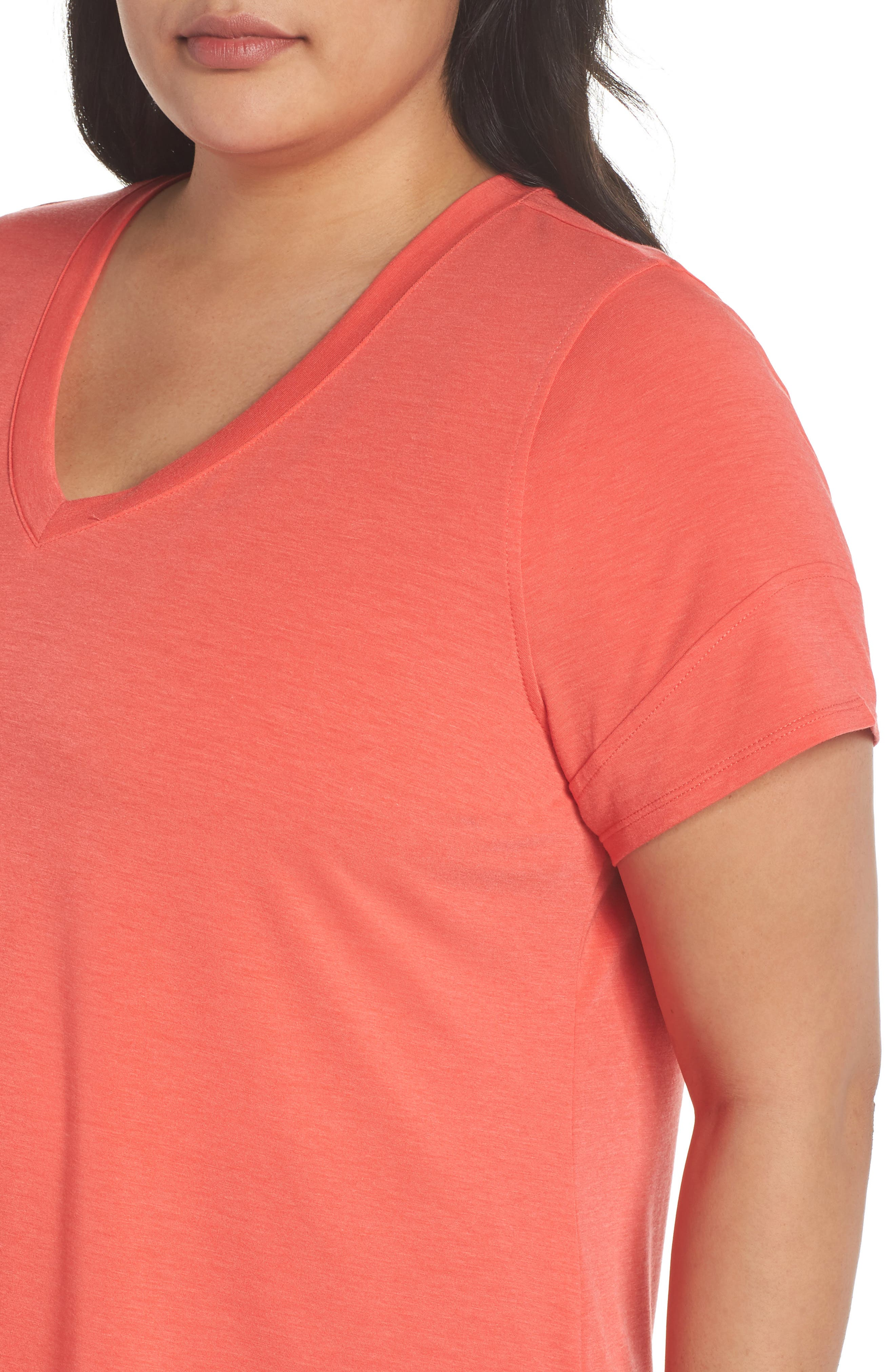 Ava Tee,                             Alternate thumbnail 4, color,                             Red Hibiscus Heather