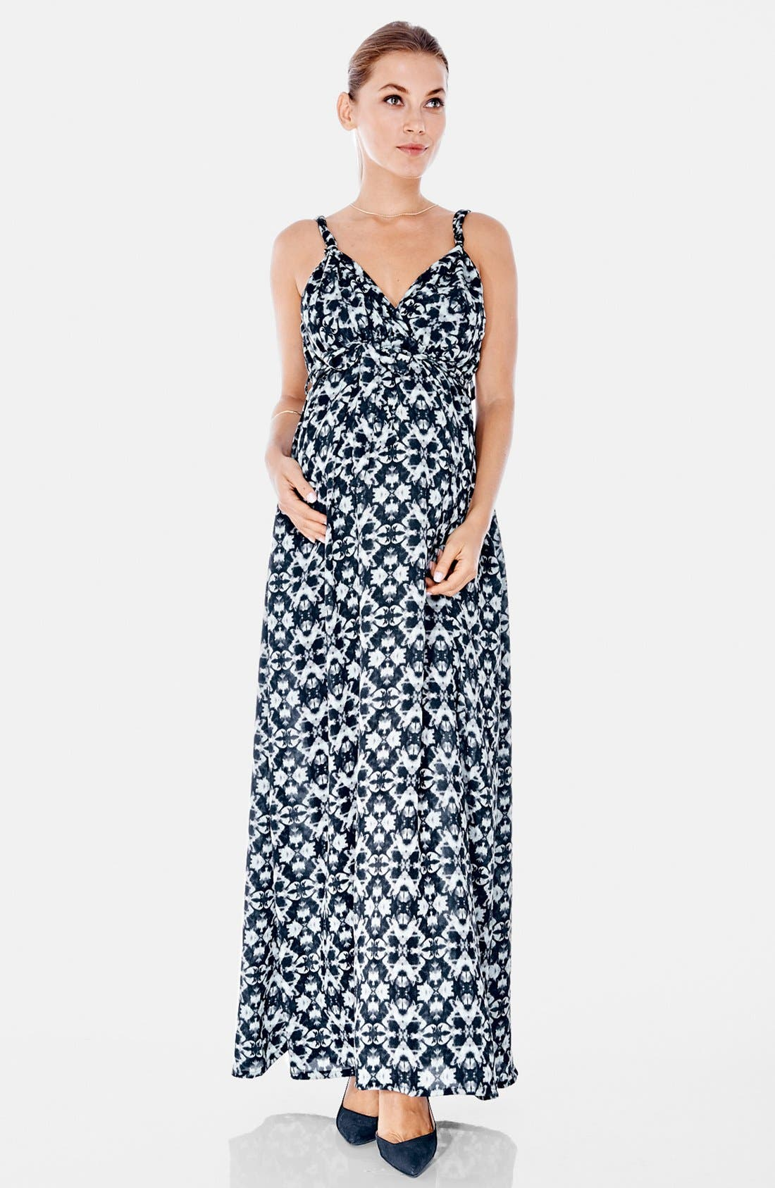 Maxi Maternity Dress,                         Main,                         color, Kaleidoscope Print