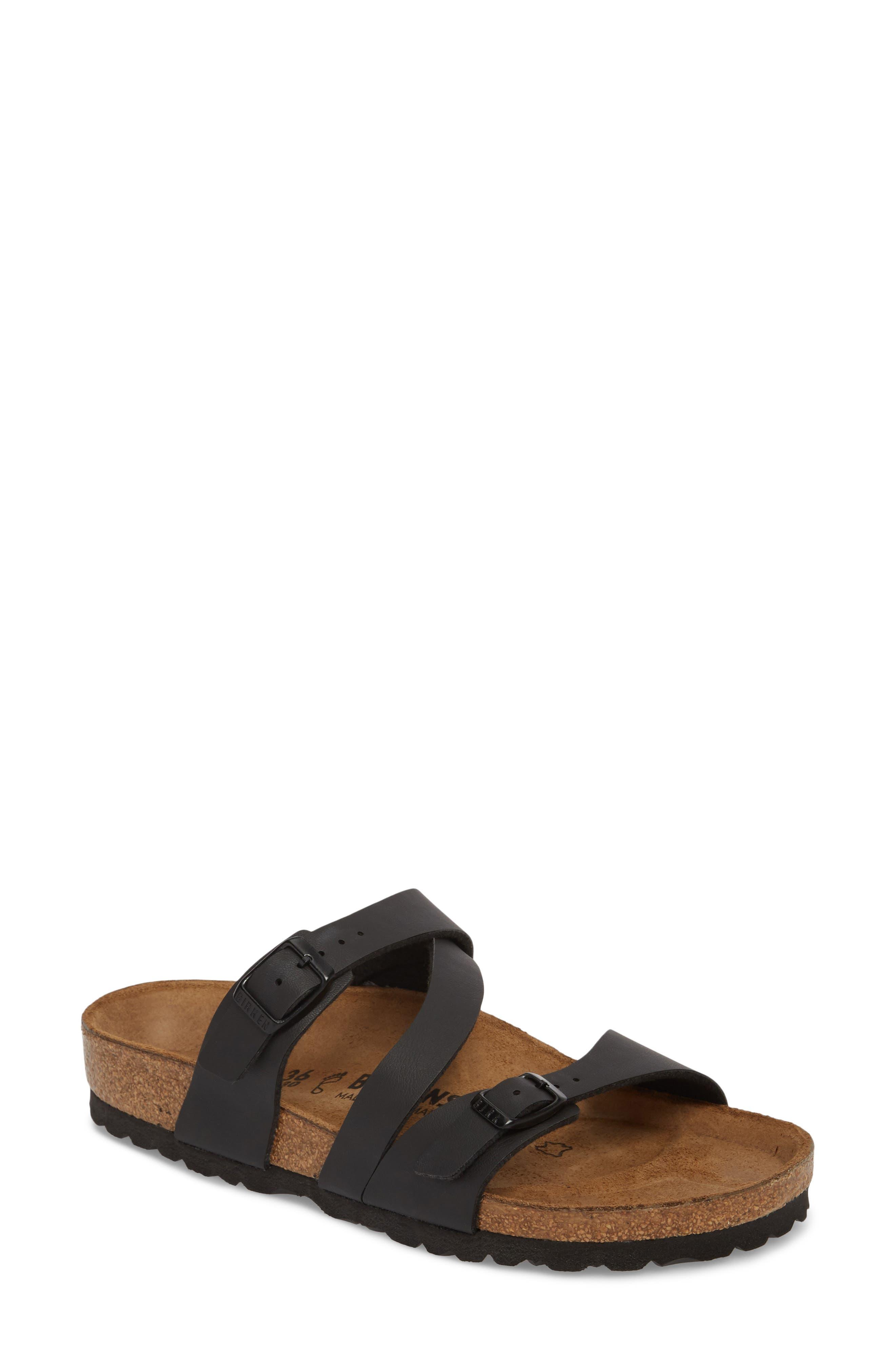 Salina Slide Sandal,                         Main,                         color, Black