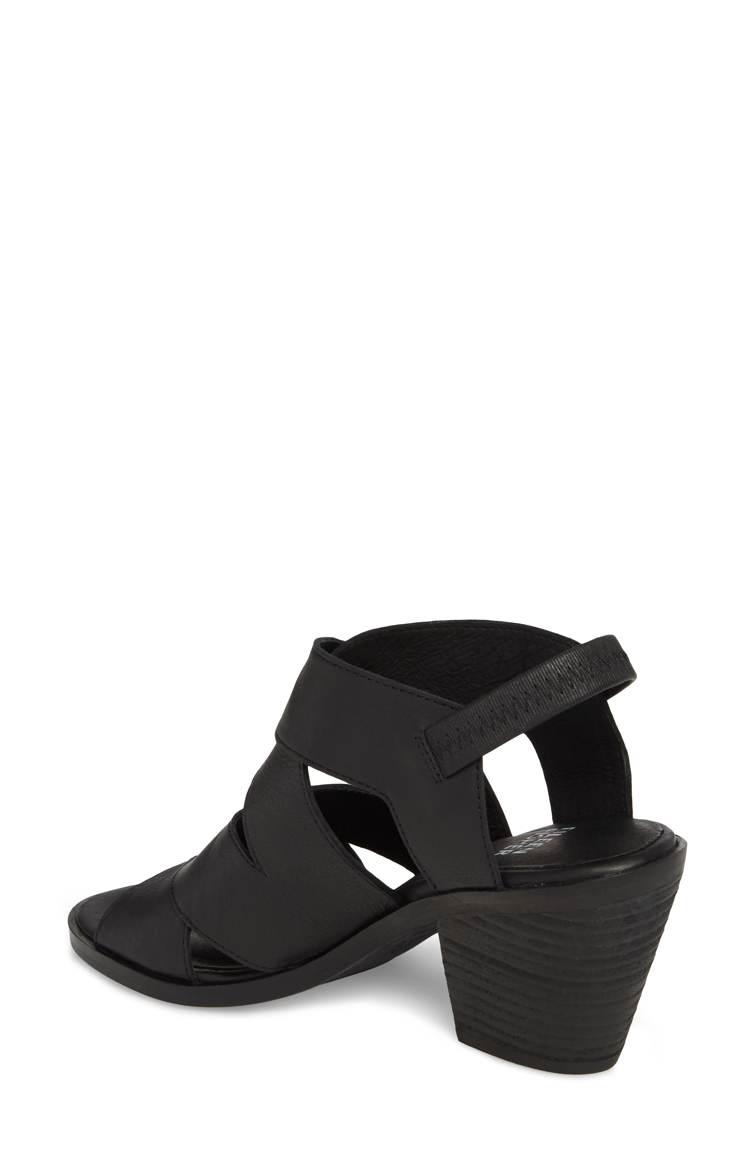 Rai Sandal,                             Alternate thumbnail 2, color,                             Black Leather