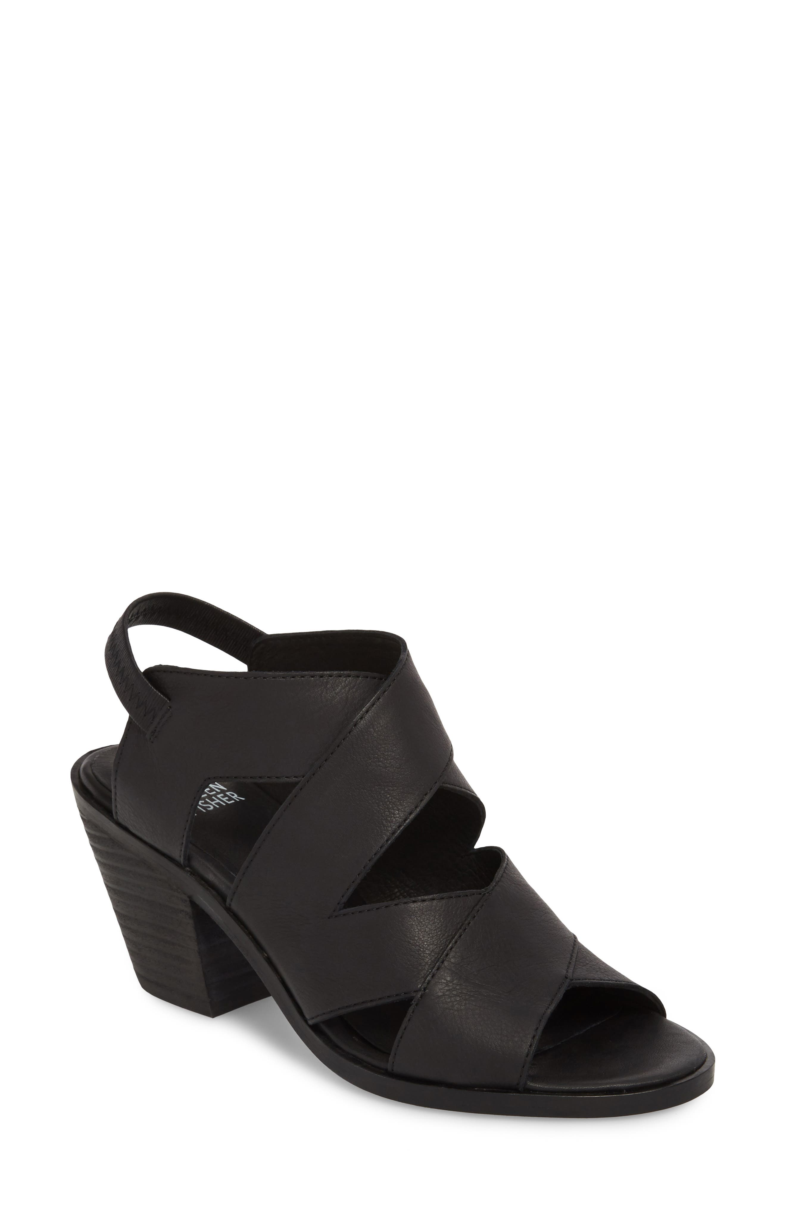 Rai Sandal,                         Main,                         color, Black Leather