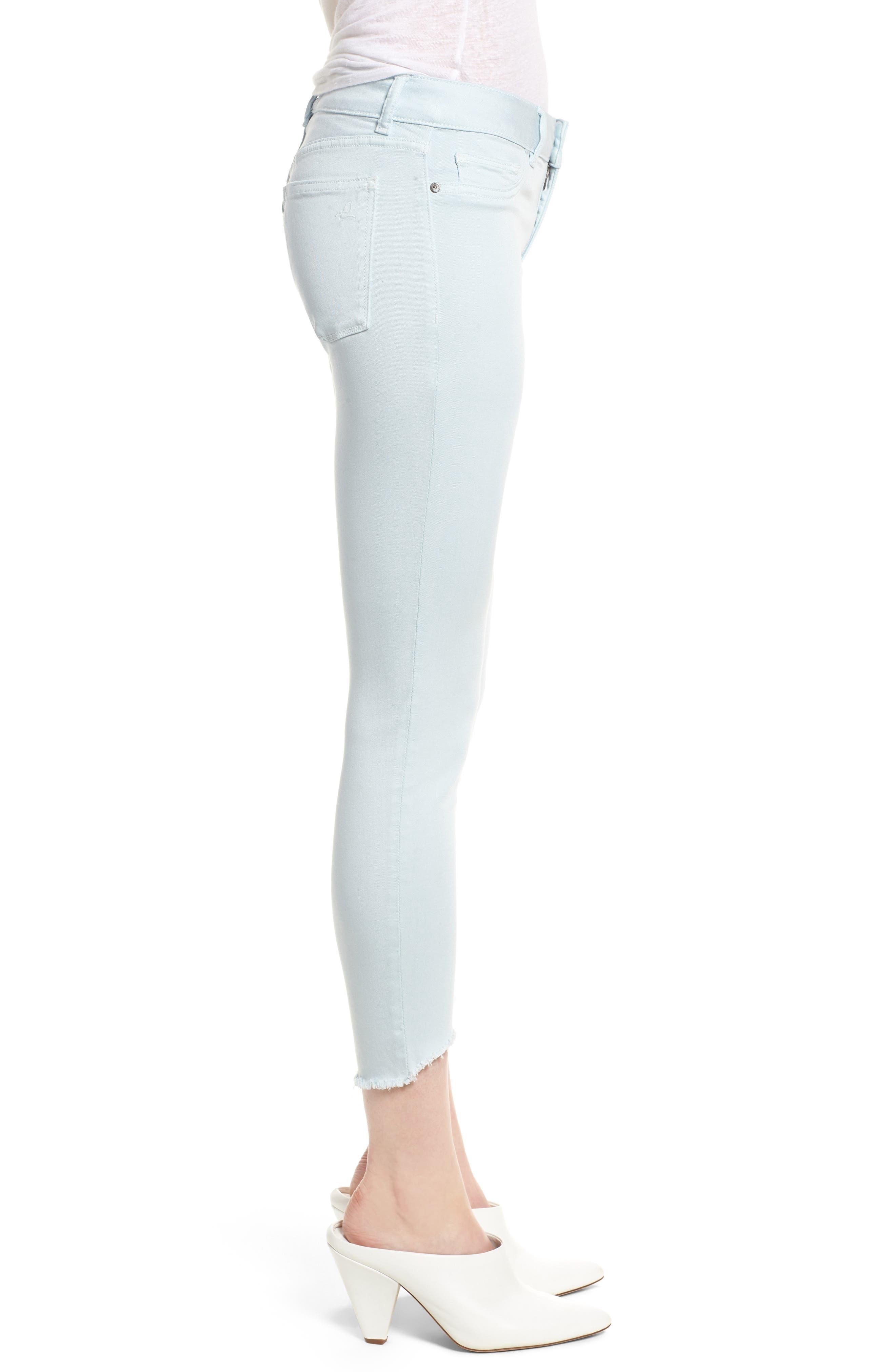 Florence Instasculpt Crop Skinny Jeans,                             Alternate thumbnail 6, color,                             Sky
