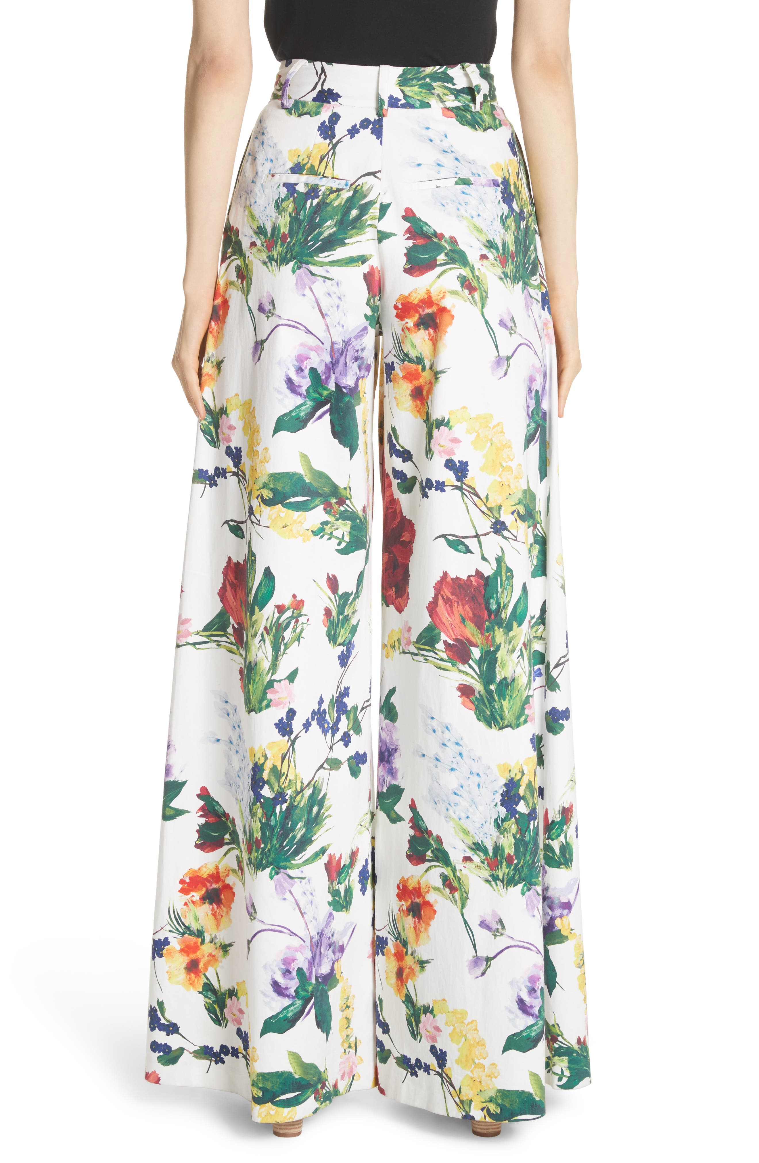 Dustin Floral Flared Pants,                             Alternate thumbnail 2, color,                             Wildflower