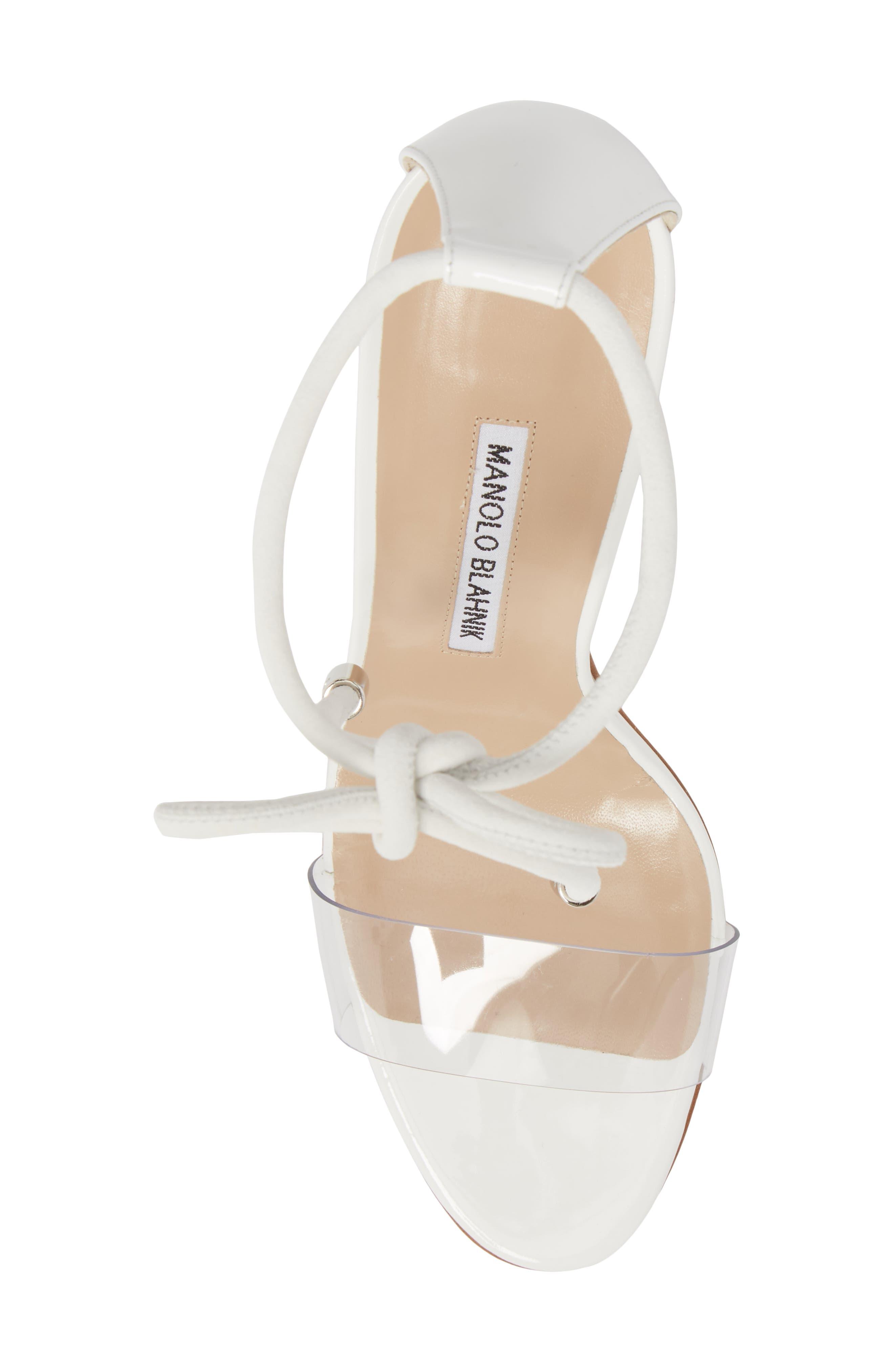 Estro Ankle Tie Sandal,                             Alternate thumbnail 5, color,                             White Patent