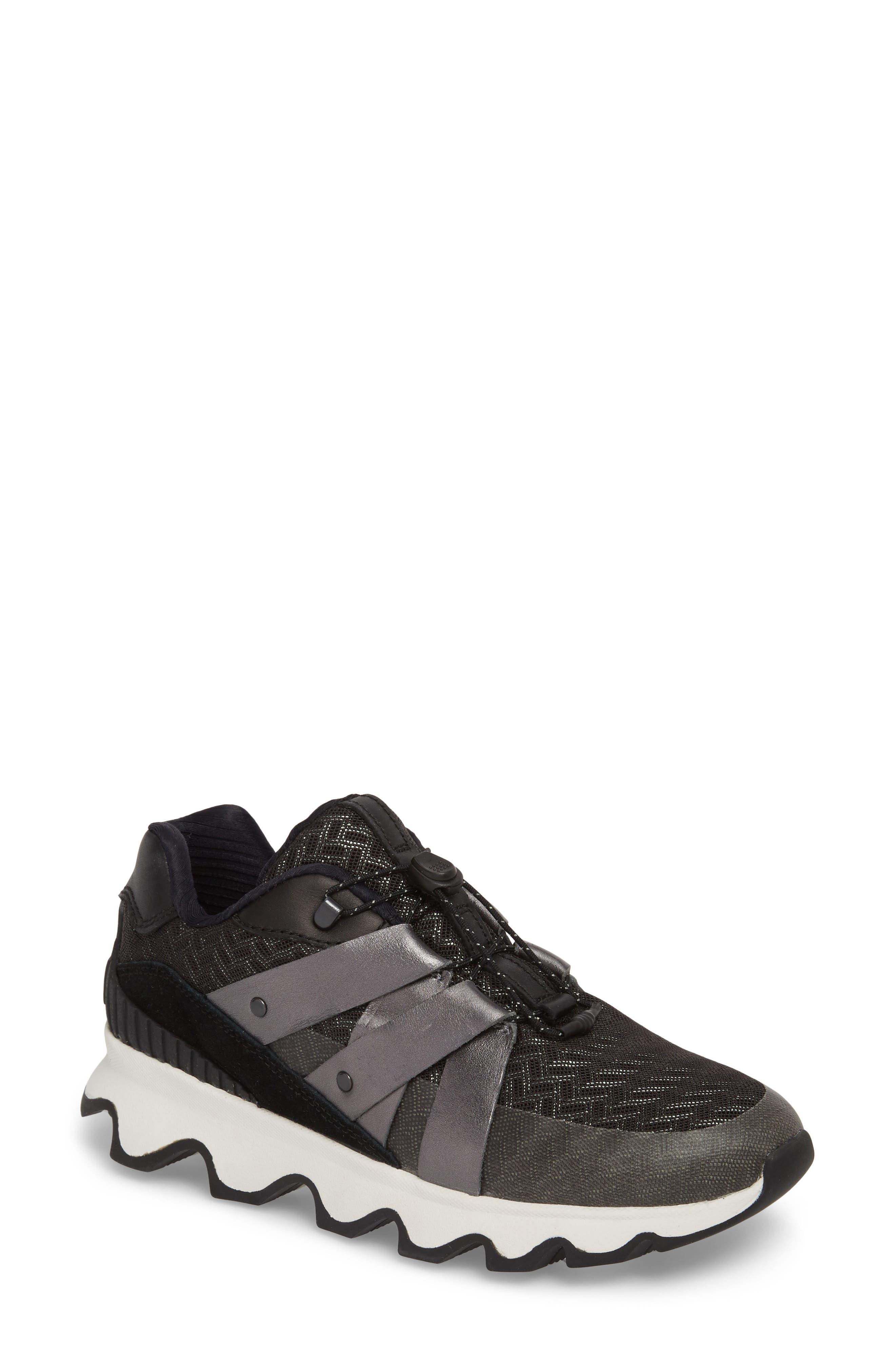 Kinetic Speed Sneaker,                             Main thumbnail 1, color,                             Black/ Sea Salt