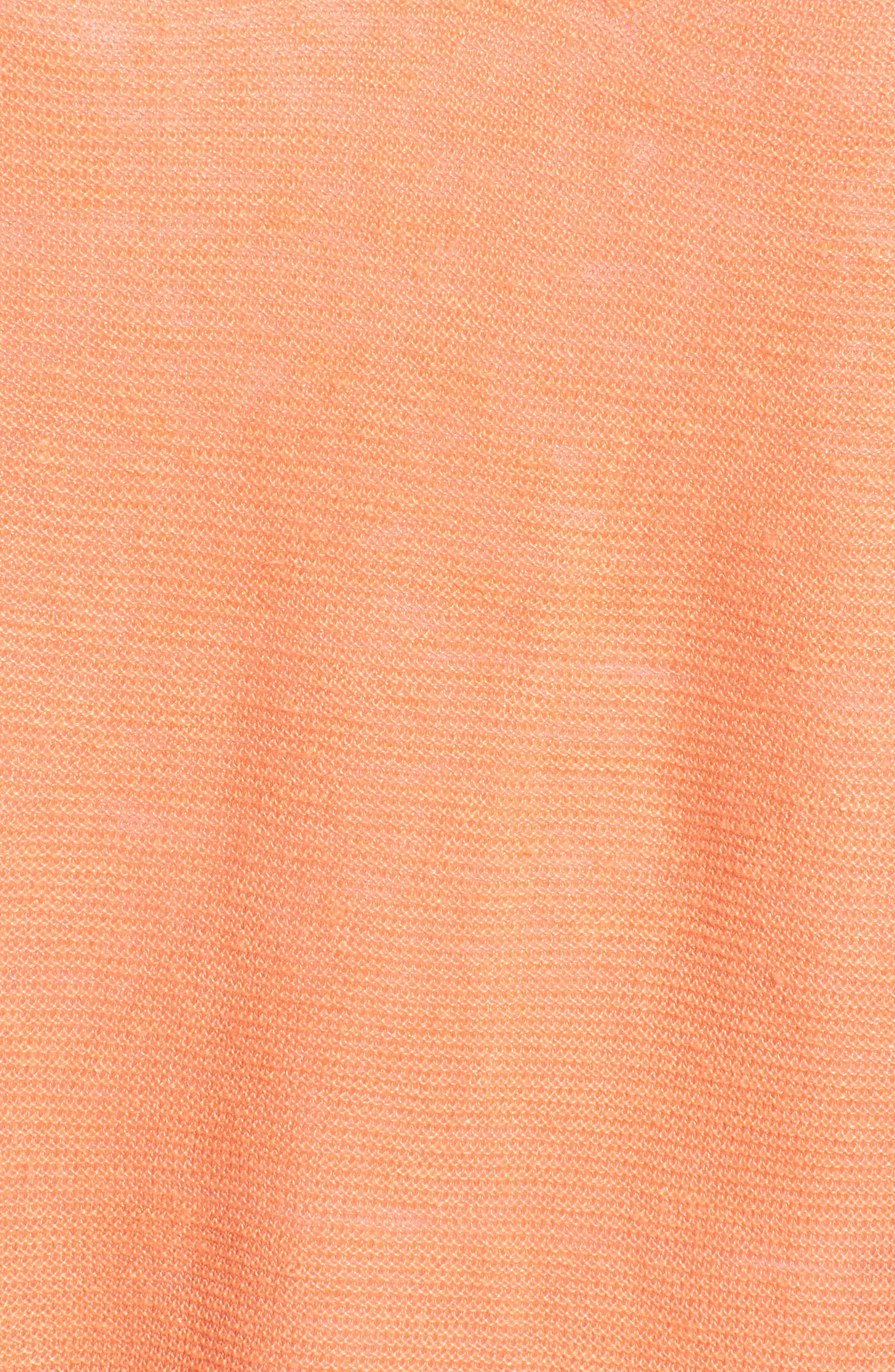V-Neck Organic Linen Top,                             Alternate thumbnail 6, color,                             Arabesque