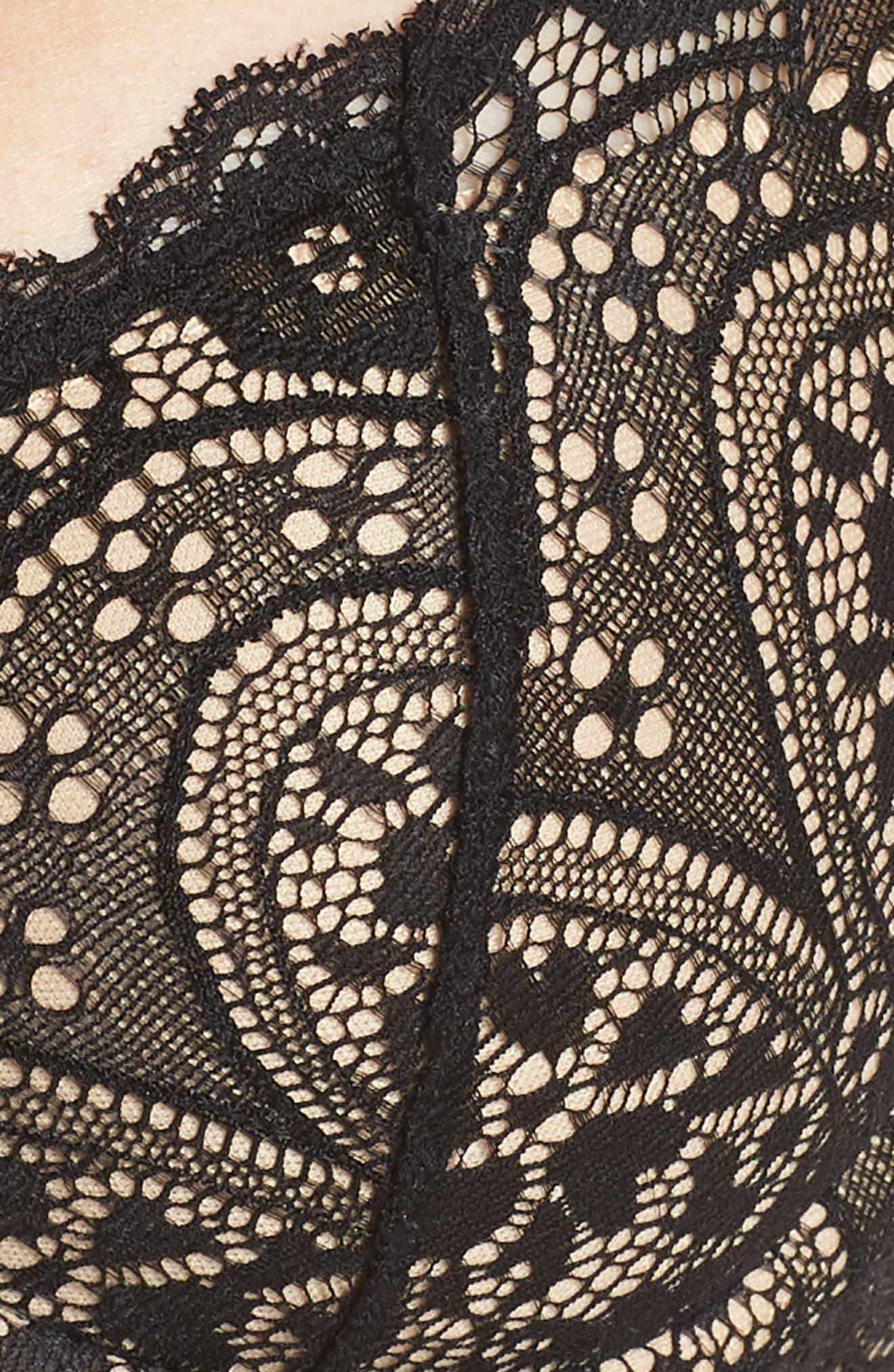 Tori Underwire Plunge Bra,                             Alternate thumbnail 7, color,                             Black