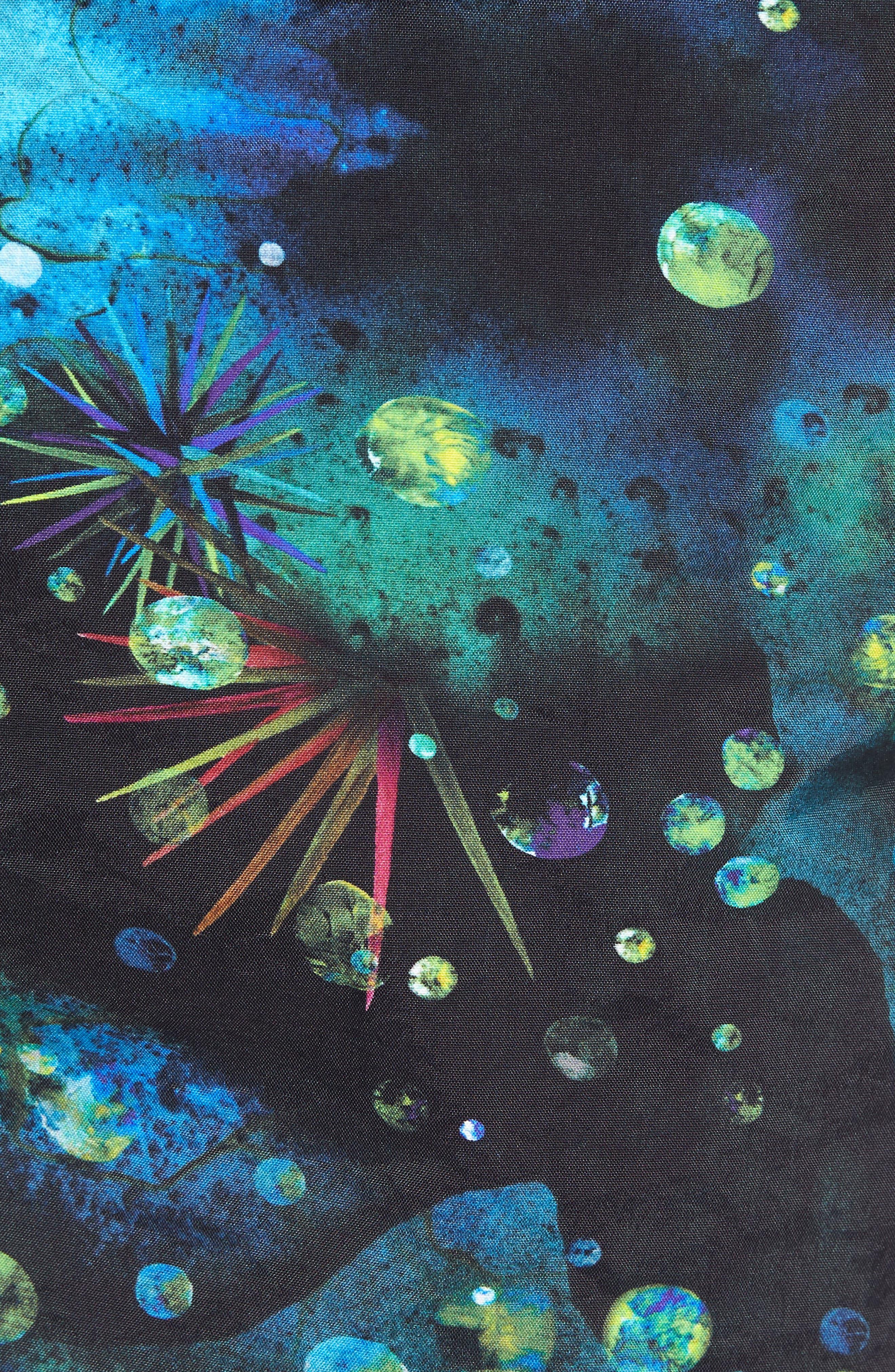 Print Swim Trunks,                             Alternate thumbnail 5, color,                             Navy