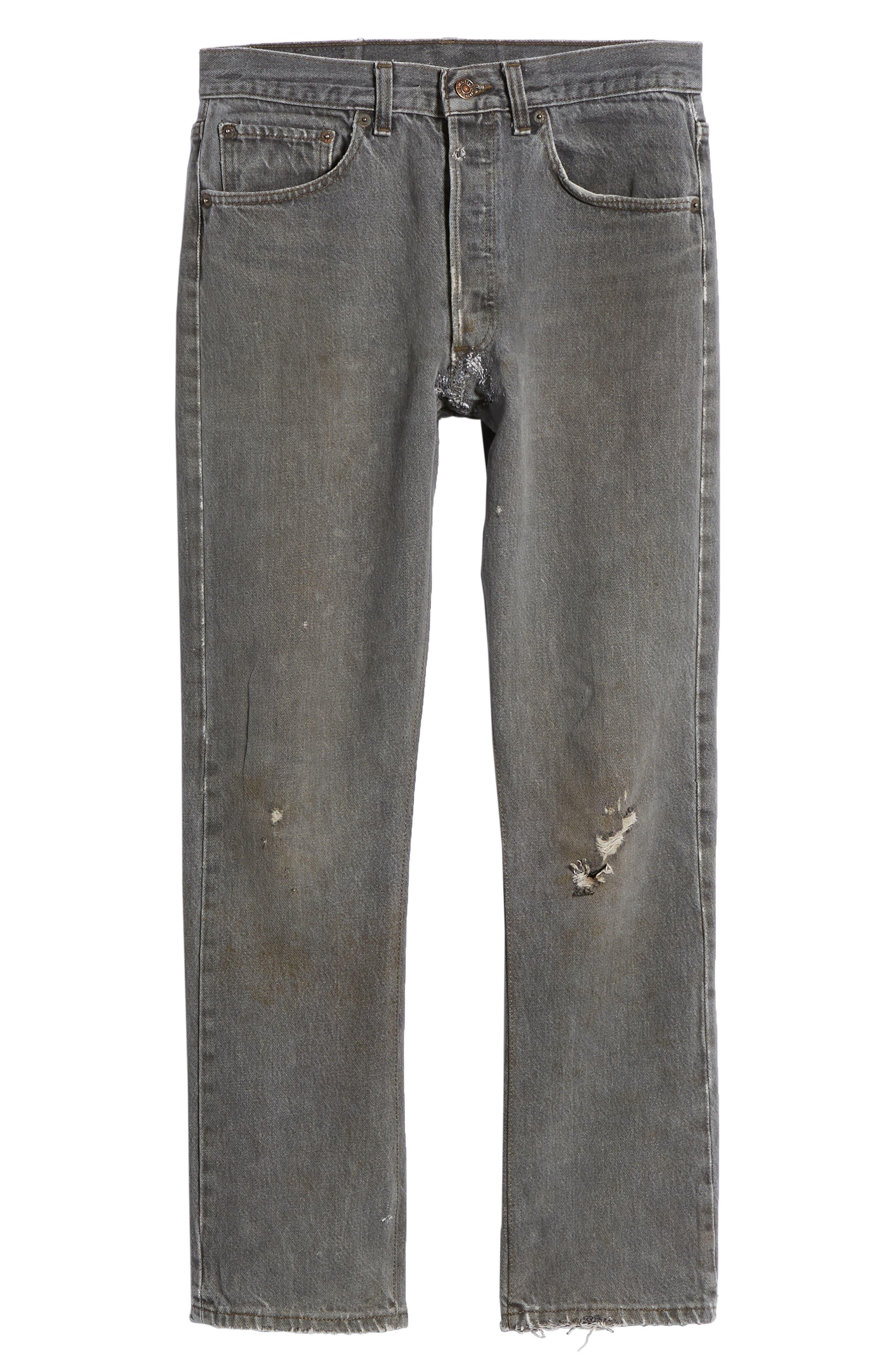 Authorized Vintage 501<sup>™</sup> Tapered Slim Fit Jeans,                             Alternate thumbnail 6, color,                             Av Black
