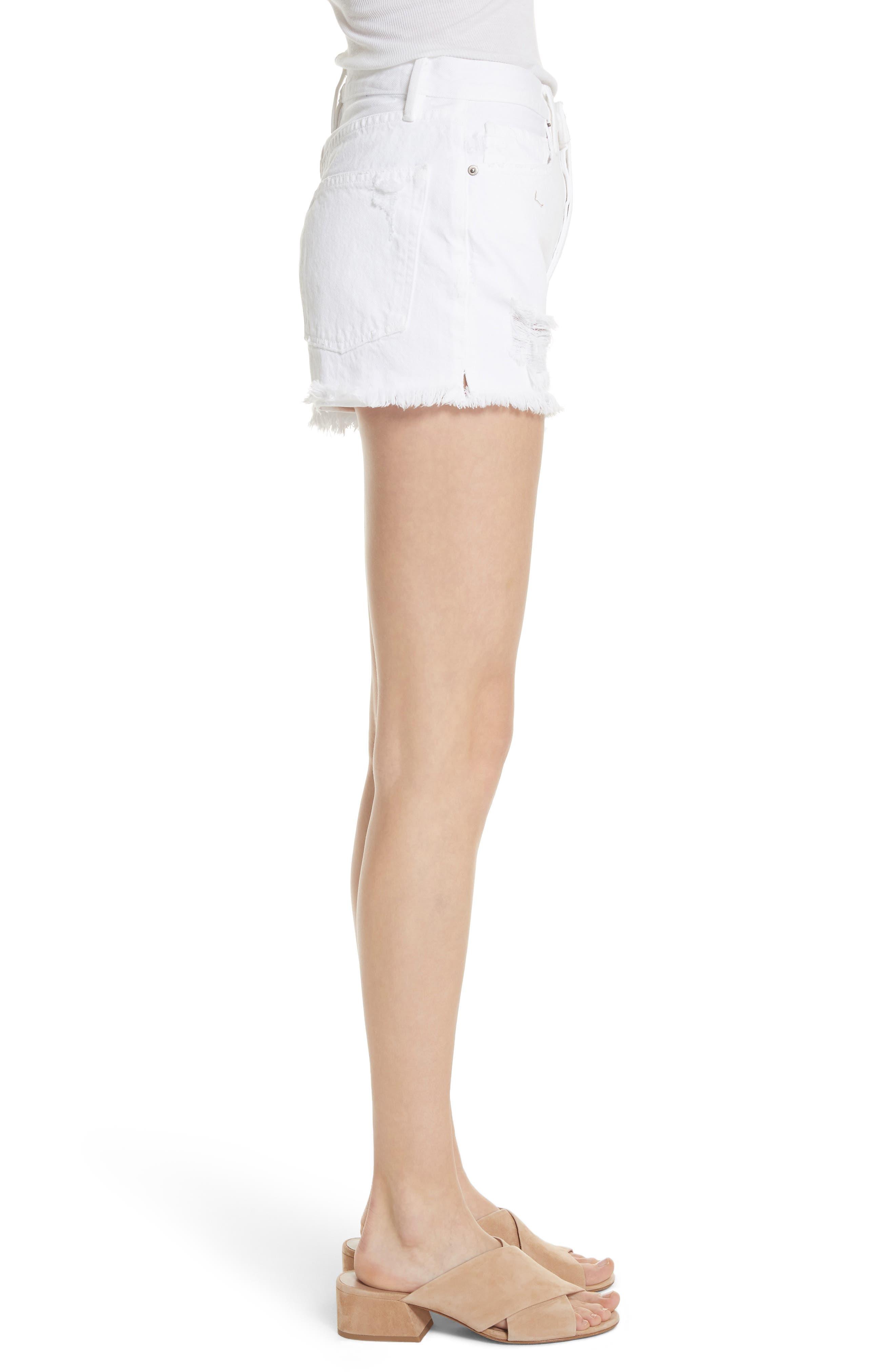 Rigid Re-Release - Le Original Shorts,                             Alternate thumbnail 5, color,                             Blanc Stockley