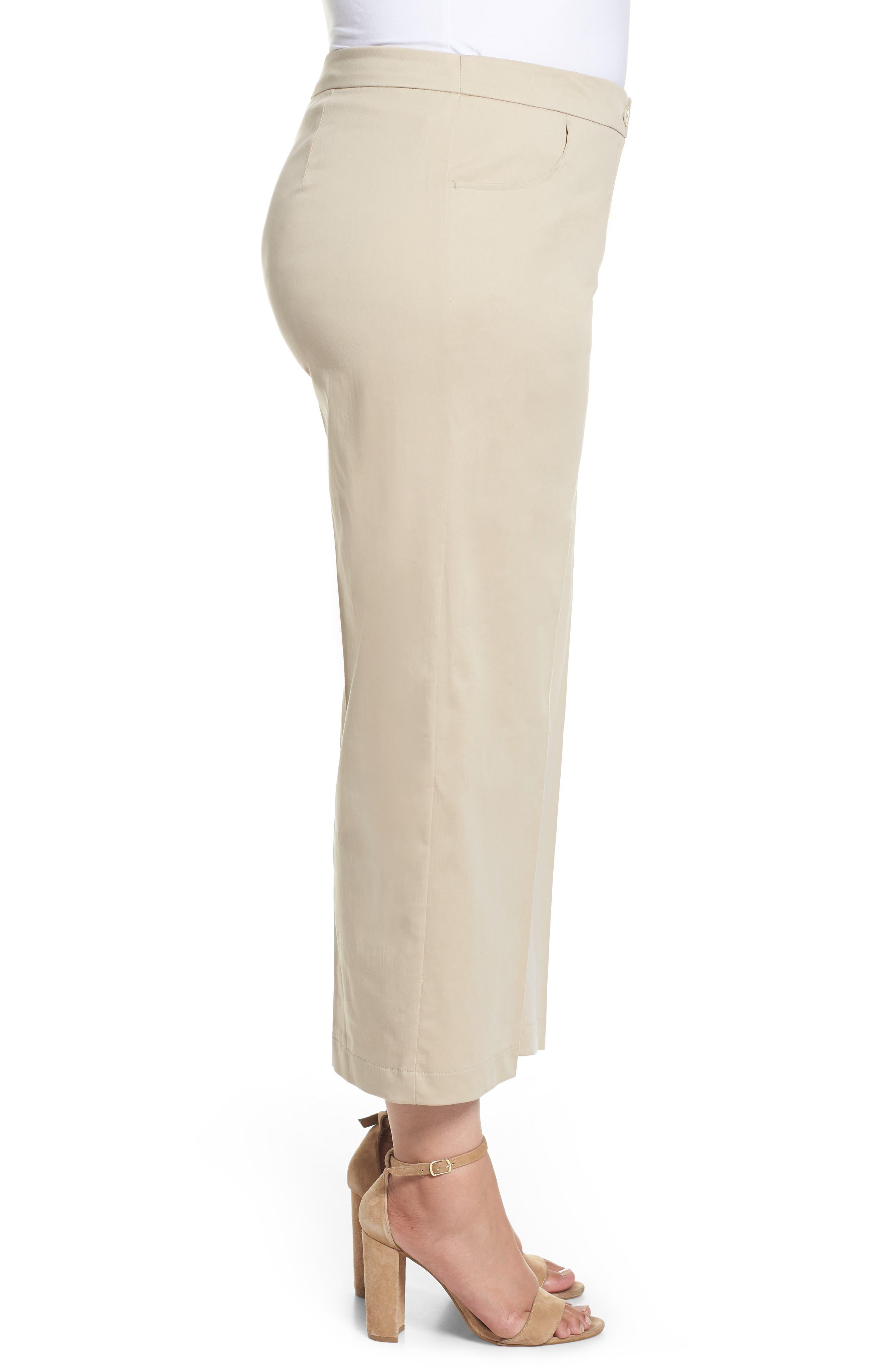 Crop Pants,                             Alternate thumbnail 3, color,                             Dark Beige