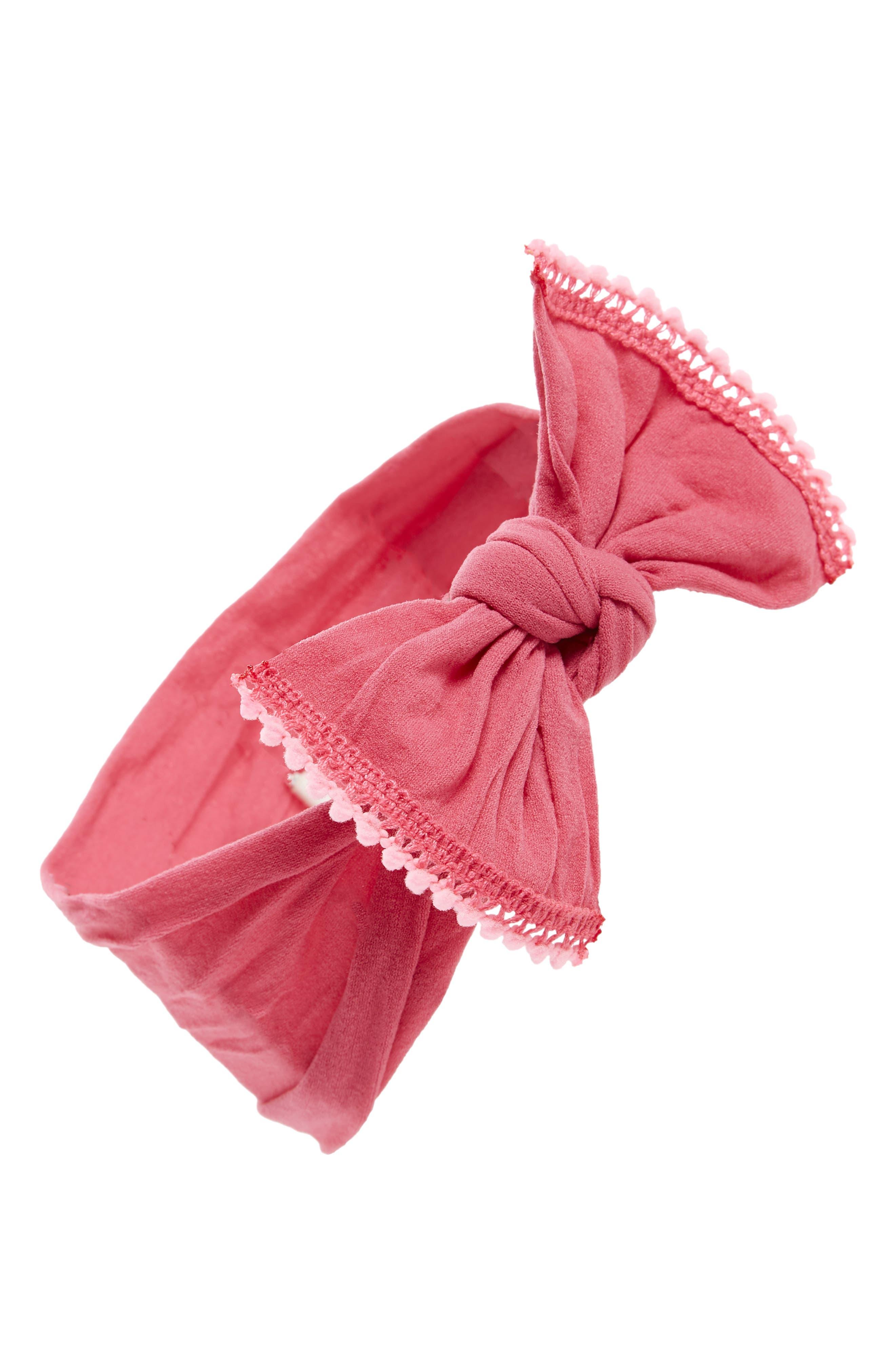 Mini Pompom Headband,                             Main thumbnail 1, color,                             Hot Pink/ Pink