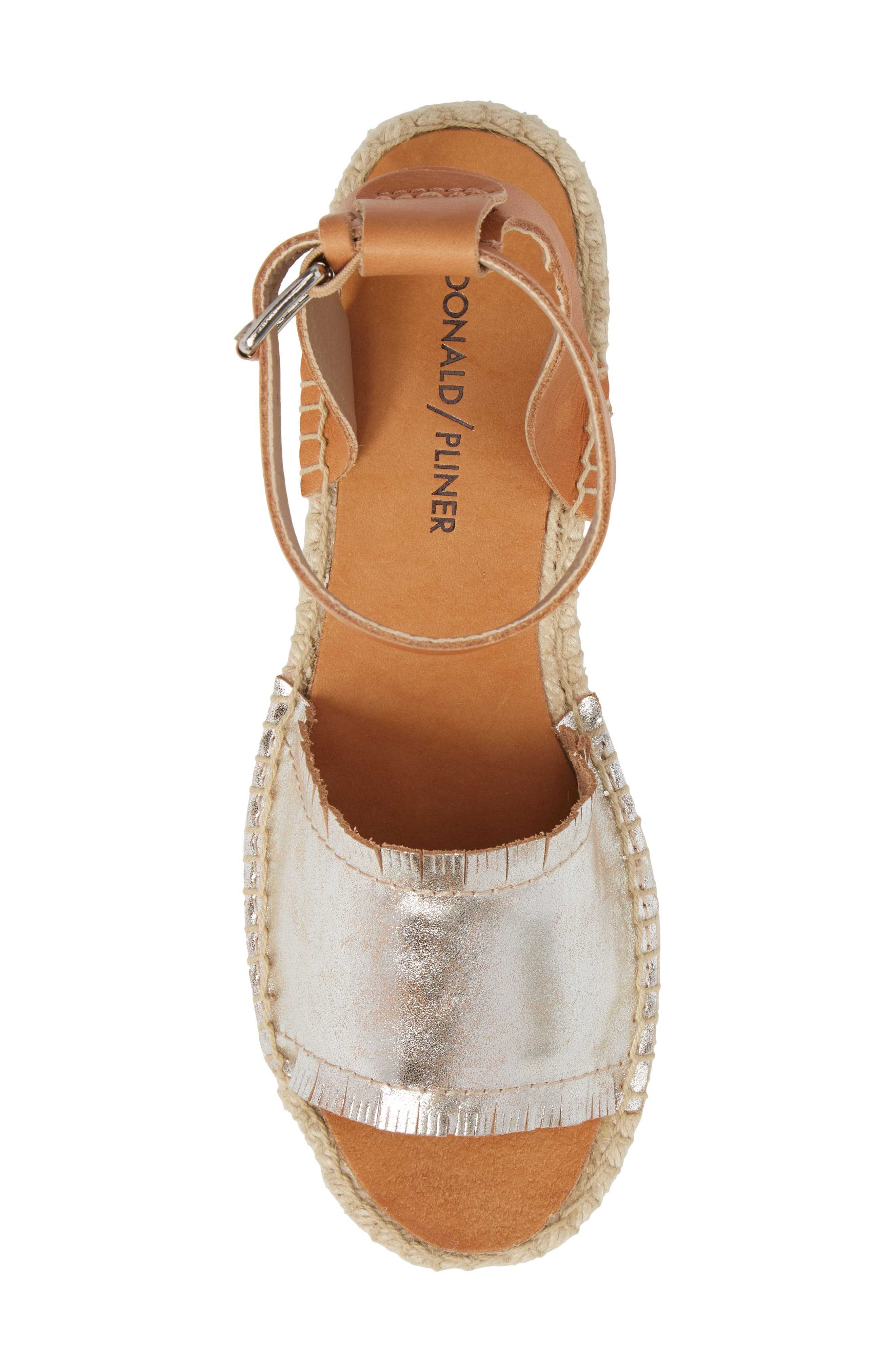 Rowen Espadrille Sandal,                             Alternate thumbnail 5, color,                             Silver Leather
