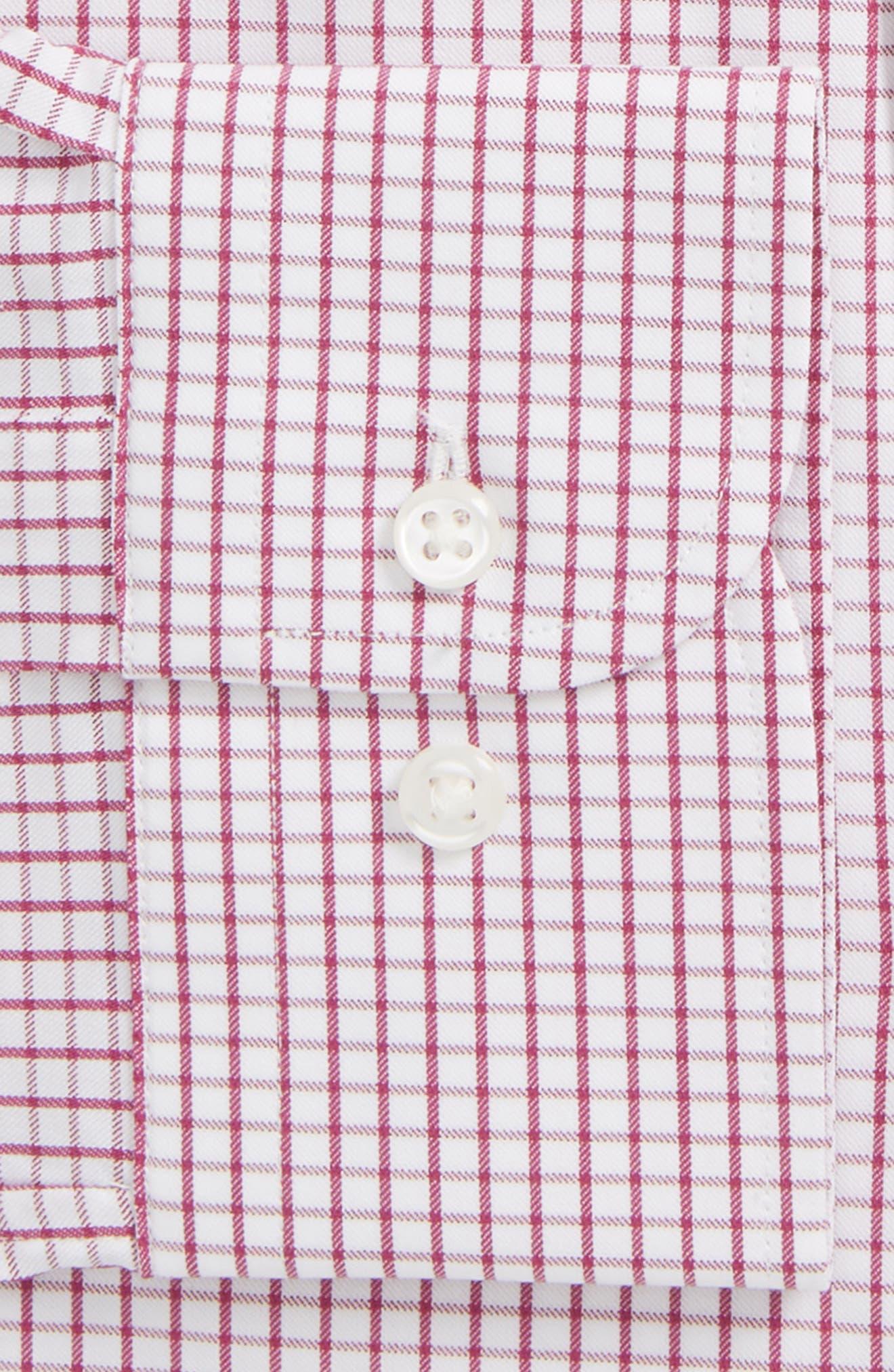 Tech-Smart Traditional Fit Stretch Tattersall Dress Shirt,                             Alternate thumbnail 2, color,                             Purple Boysen