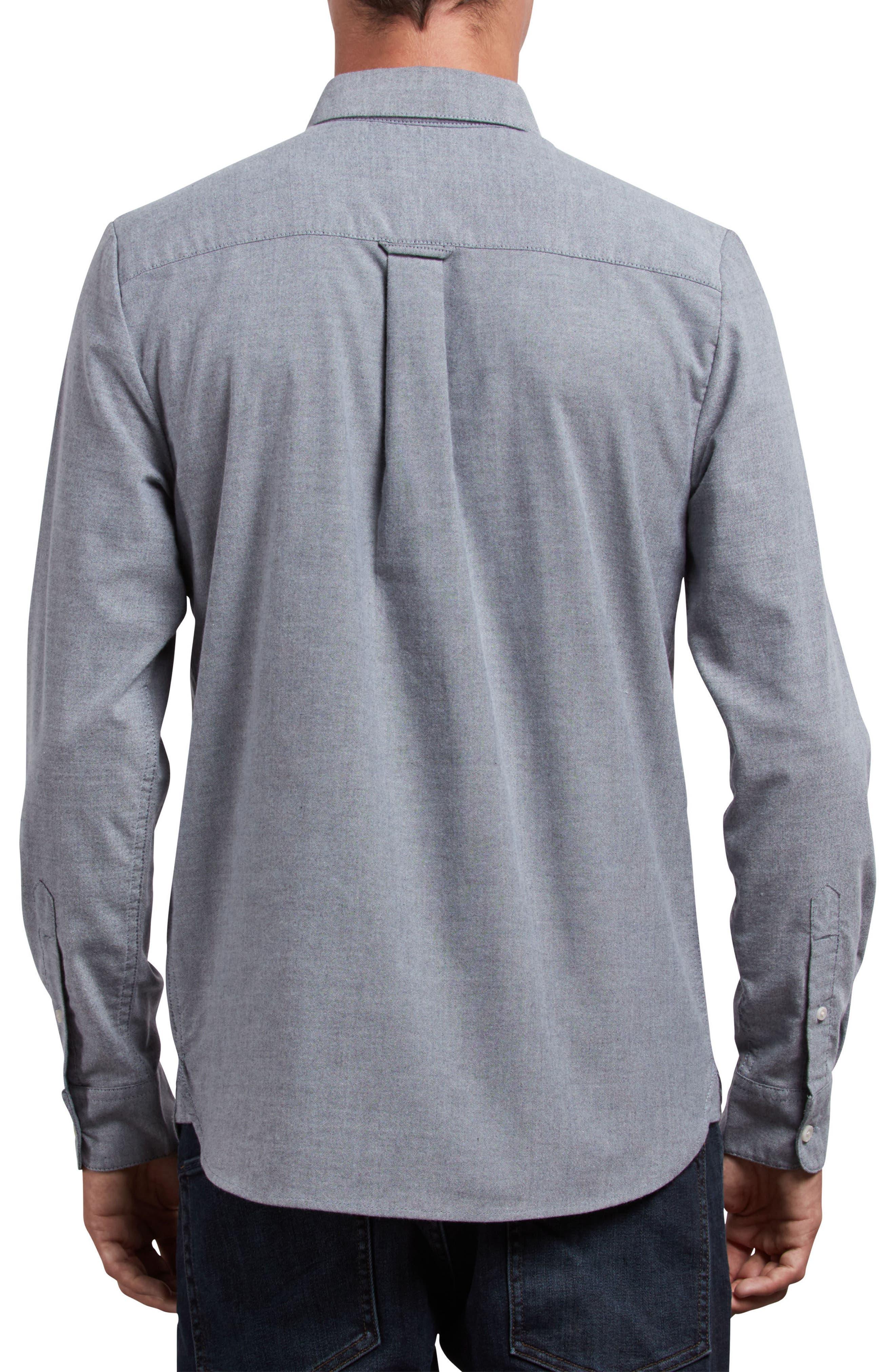 Stretch Oxford Shirt,                             Alternate thumbnail 2, color,                             Black