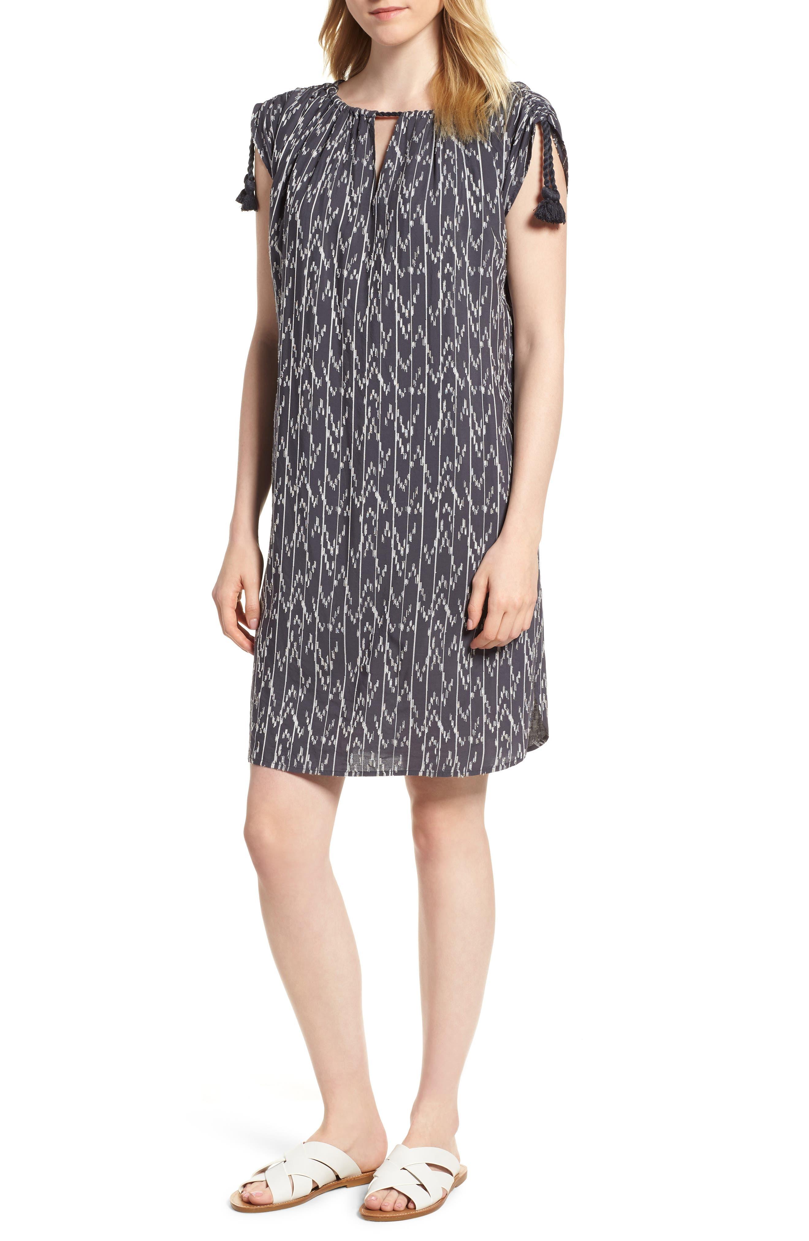 Market Embroidered Shirt Dress,                             Main thumbnail 1, color,                             Multi