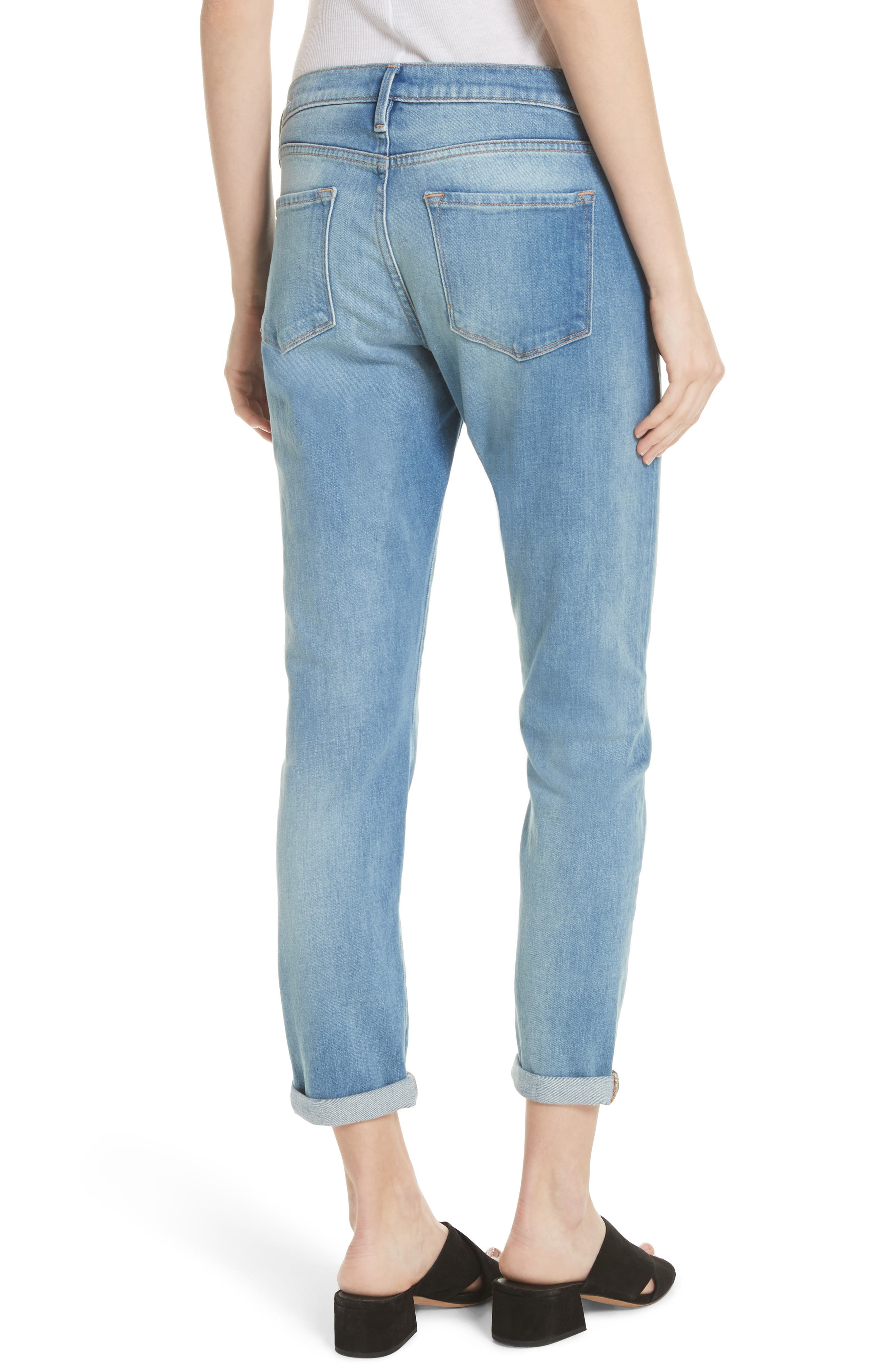 Le Garcon Crop Slim Boyfriend Jeans,                             Alternate thumbnail 2, color,                             Silva