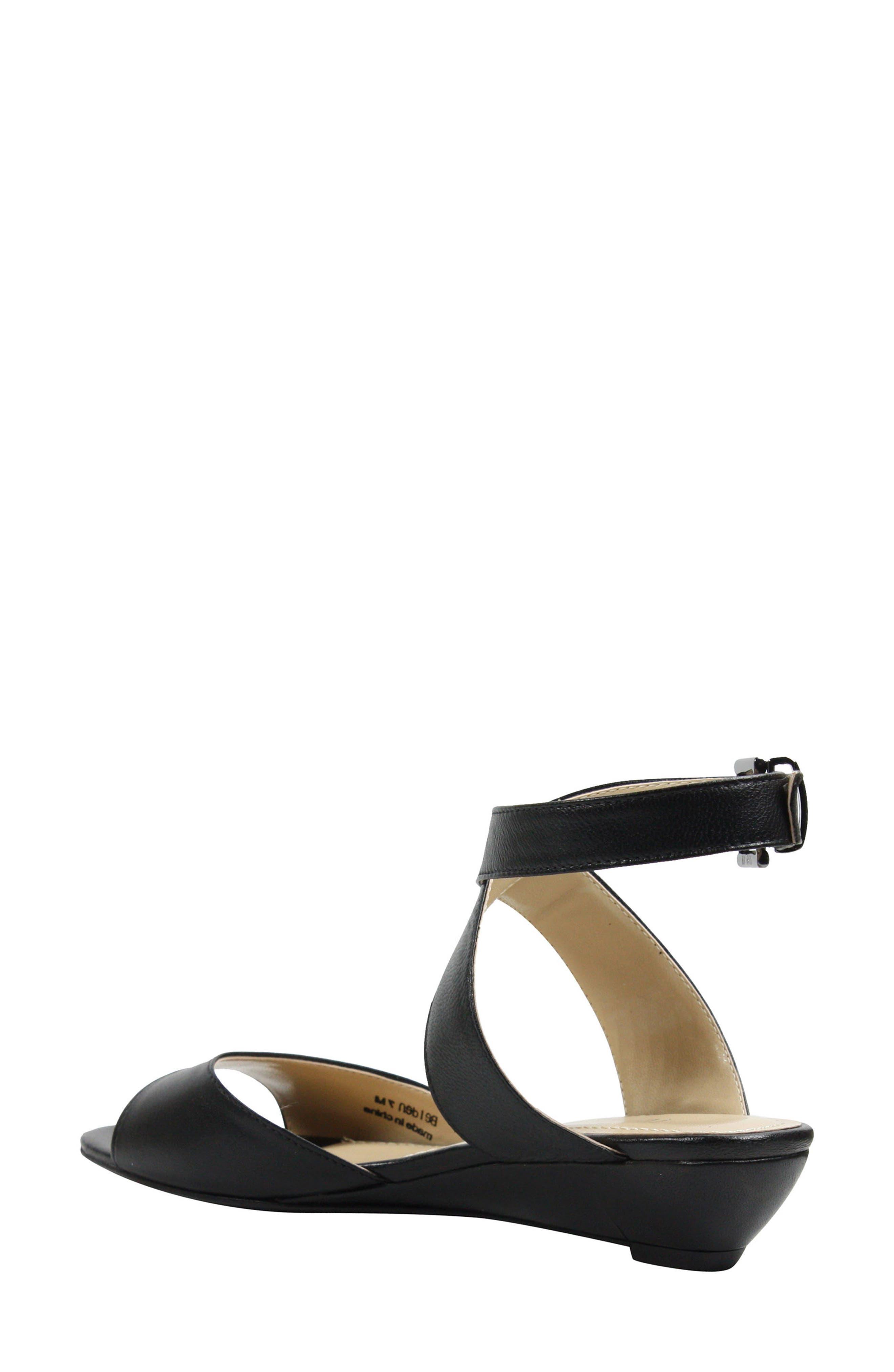 Belden Ankle Wrap Sandal,                             Alternate thumbnail 2, color,                             Black Leather