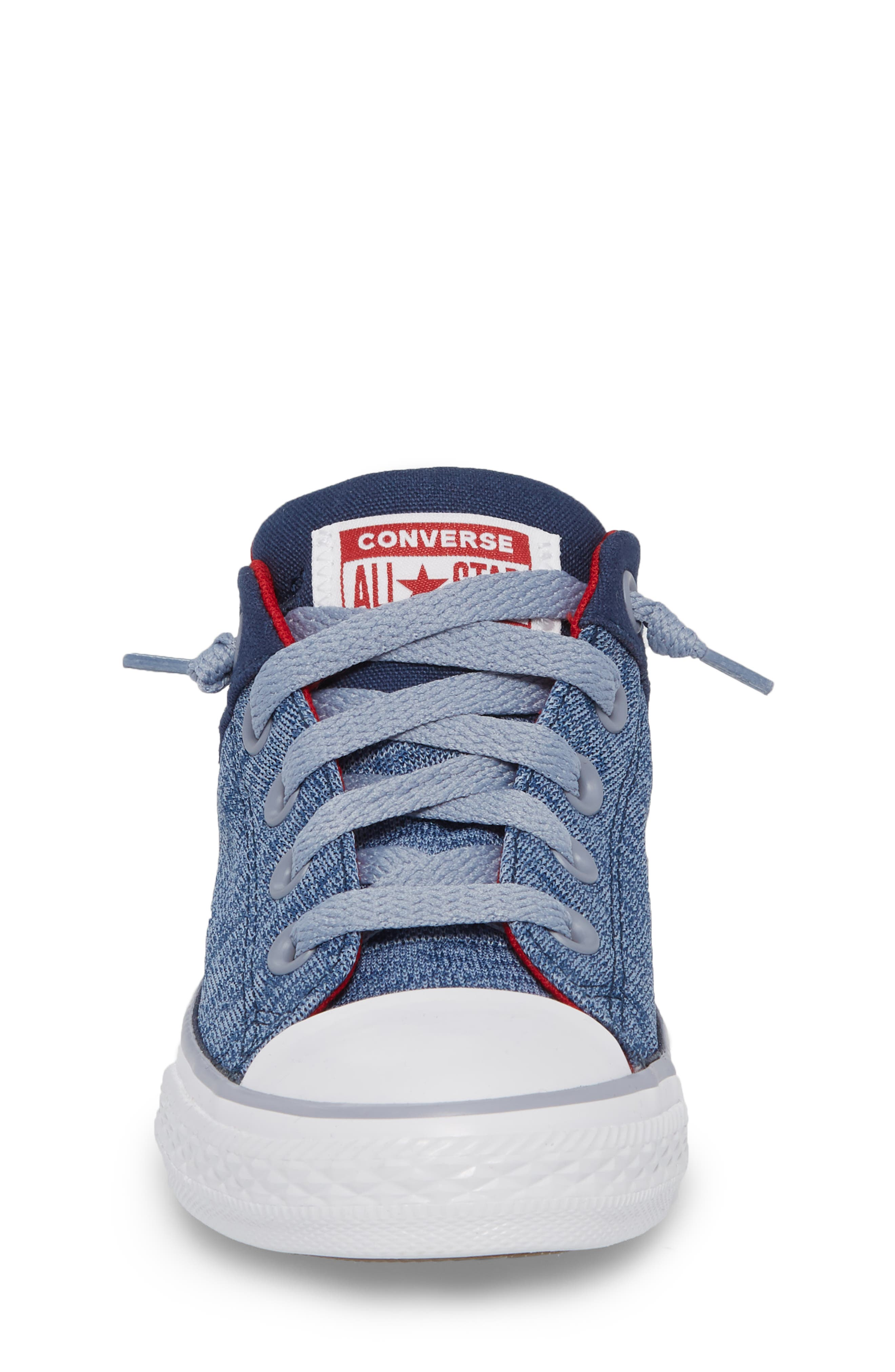 One Star Heather Street Sneaker,                             Alternate thumbnail 4, color,                             Navy