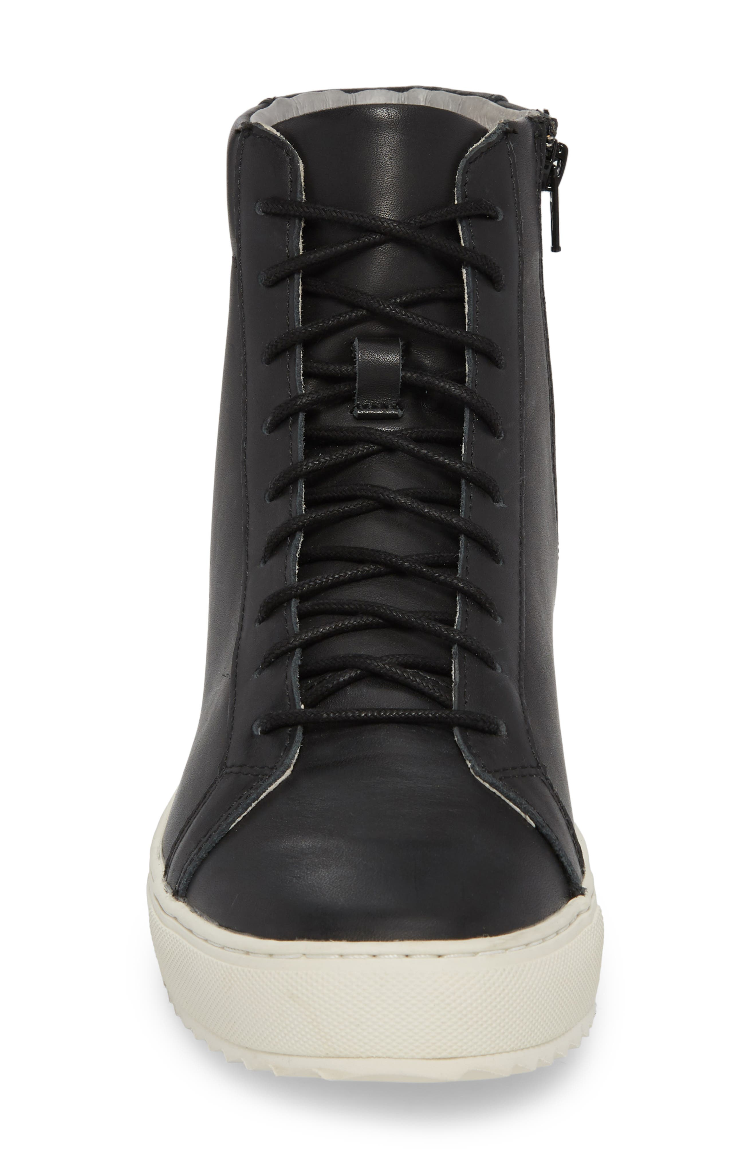 Logan Water Resistant High Top Sneaker,                             Alternate thumbnail 4, color,                             Kettle Leather