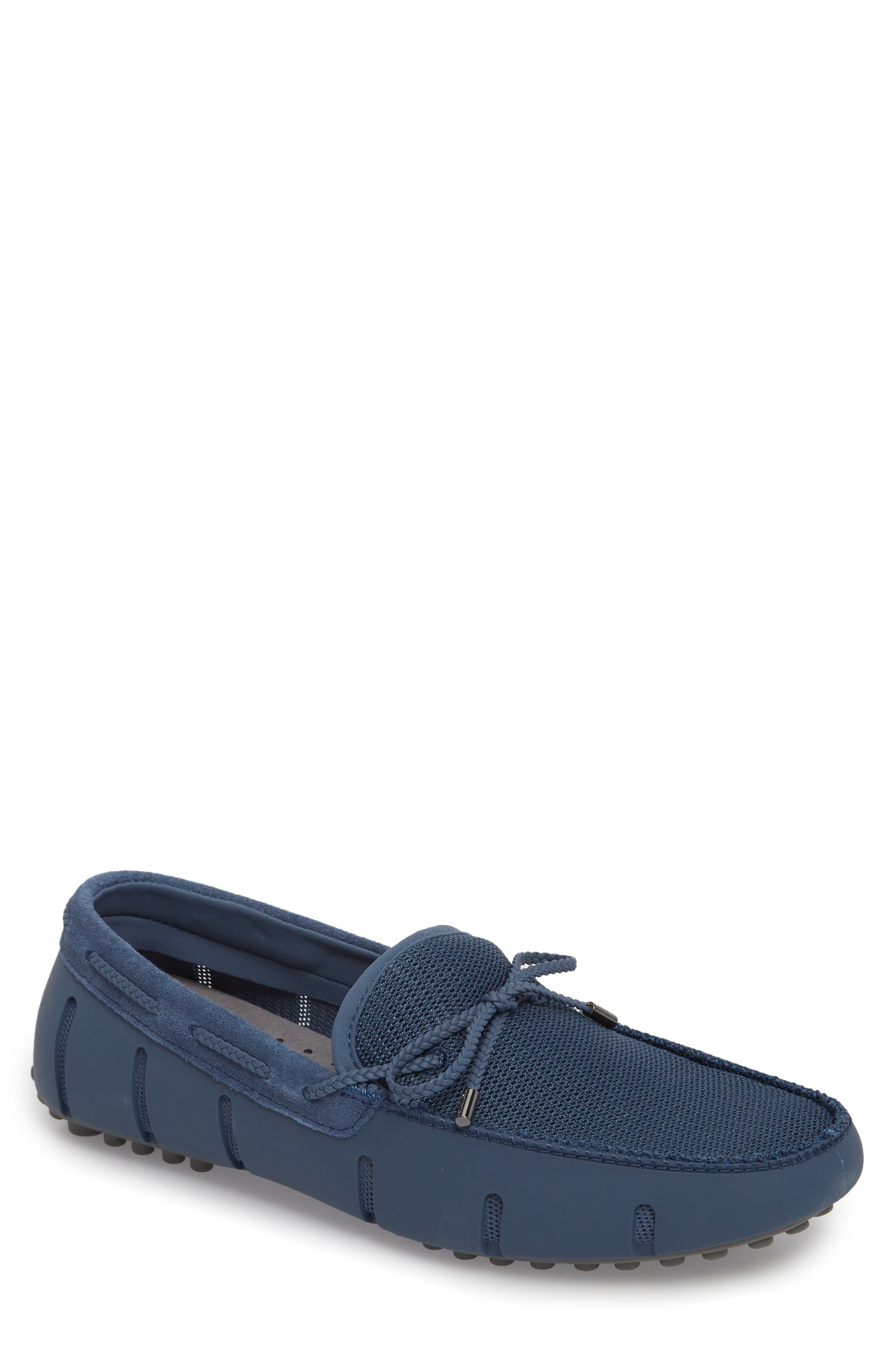 Washable Driving Loafer,                             Main thumbnail 1, color,                             Slate/ Grey Fabric