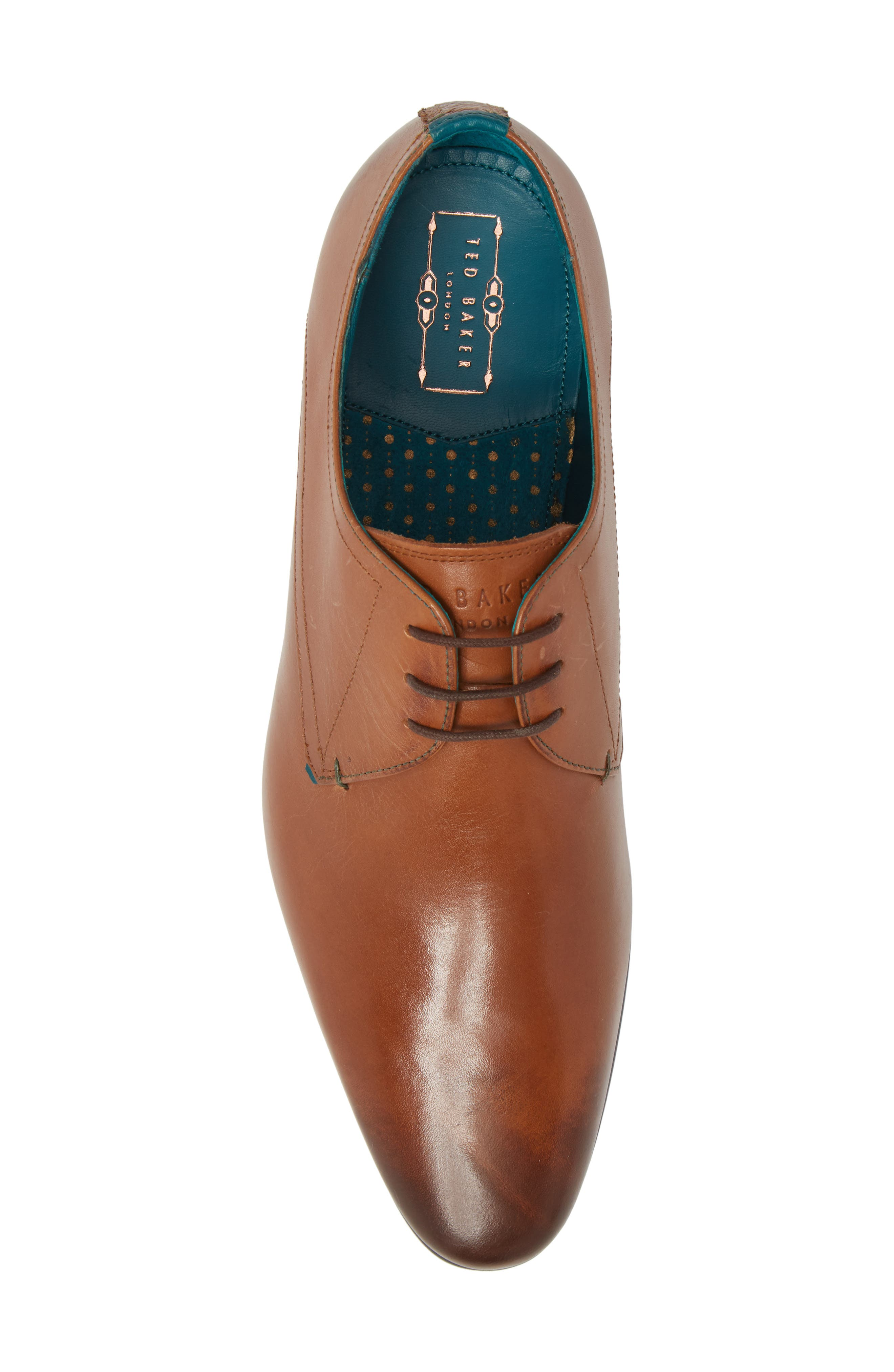 Bhartli Plain Toe Derby,                             Alternate thumbnail 5, color,                             Tan Leather