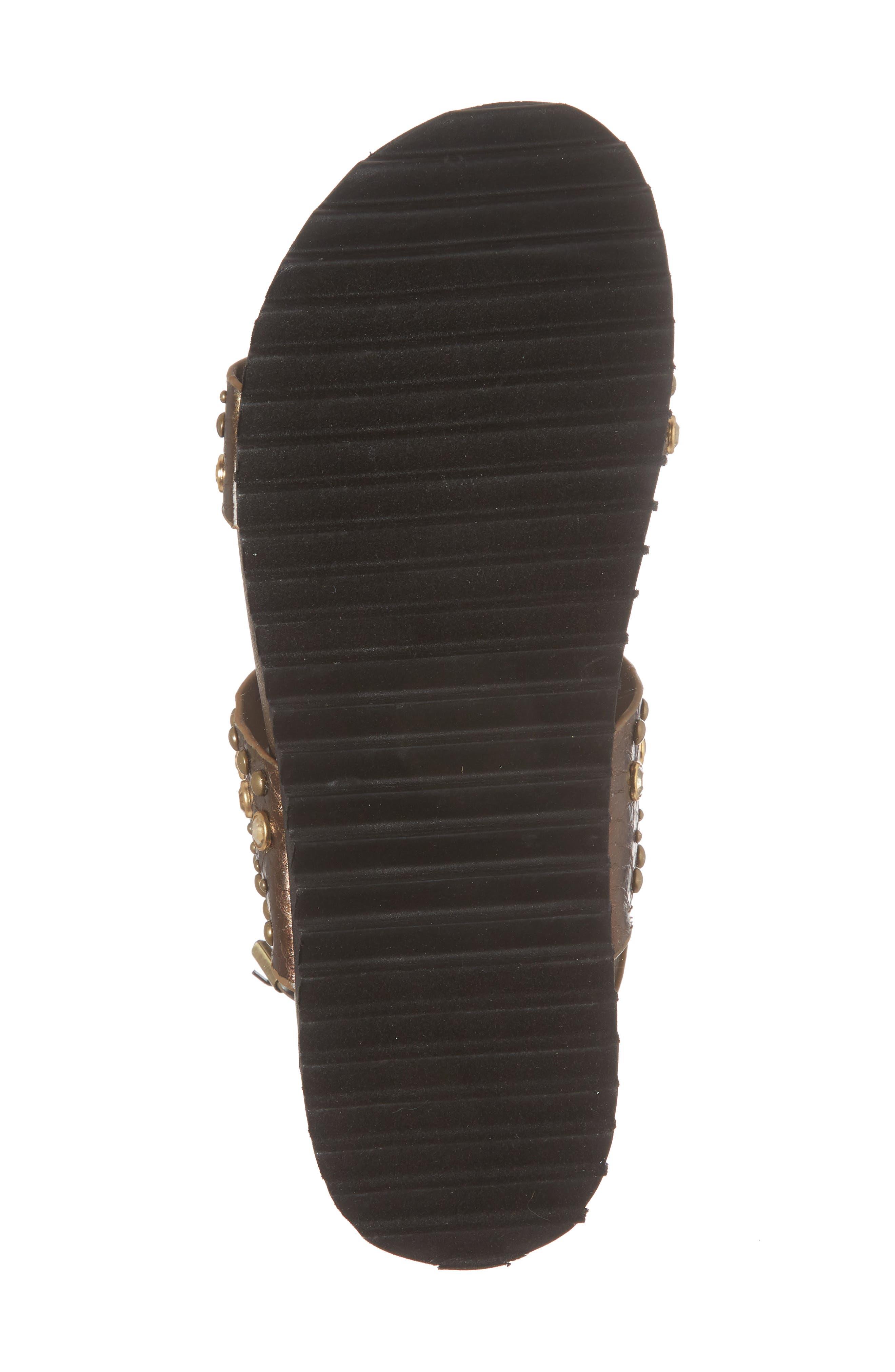 Milan Platform Sandal,                             Alternate thumbnail 6, color,                             Bronze