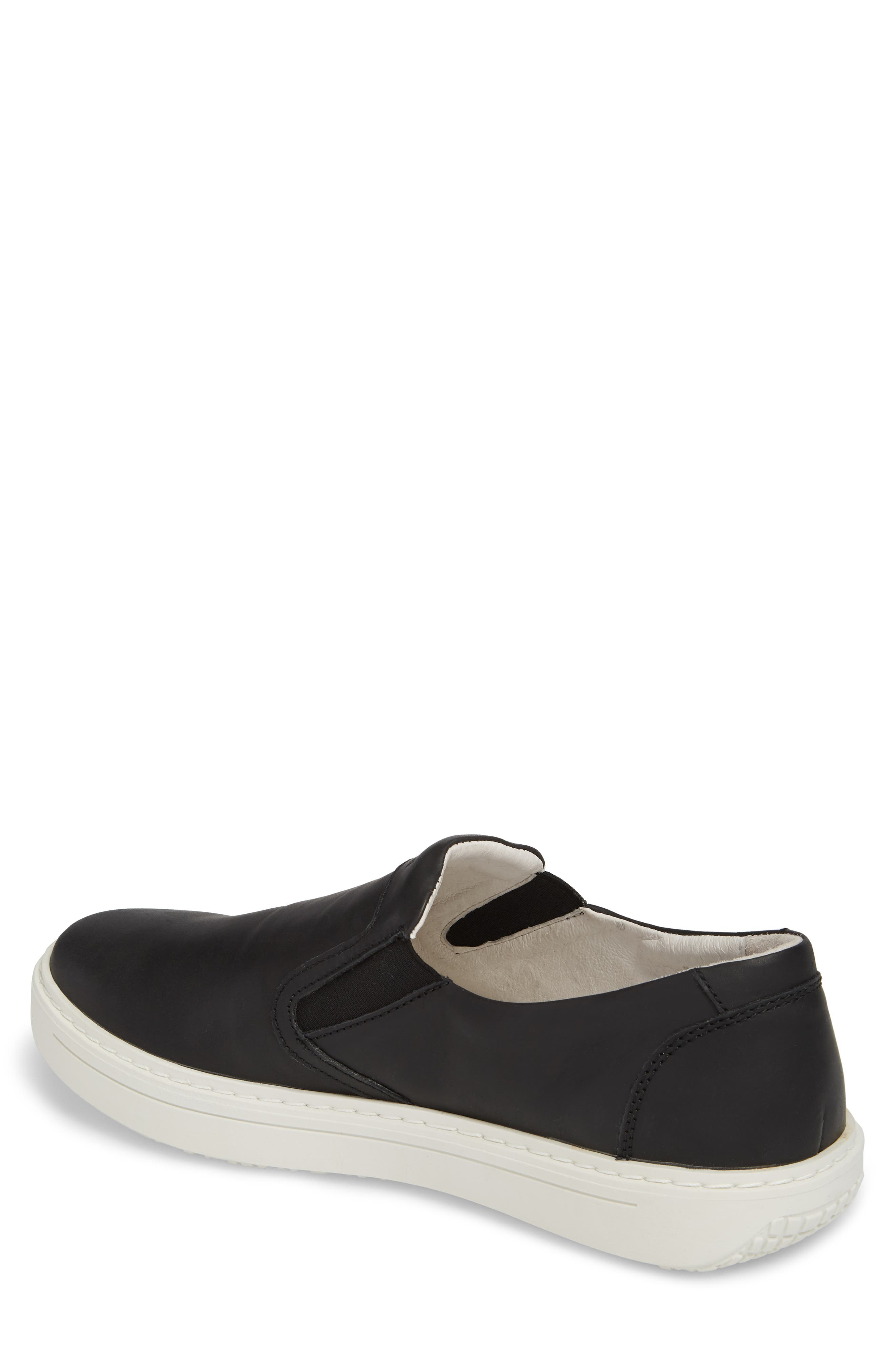 Quentin 15 Slip-On Sneaker,                             Alternate thumbnail 2, color,                             Black Leather