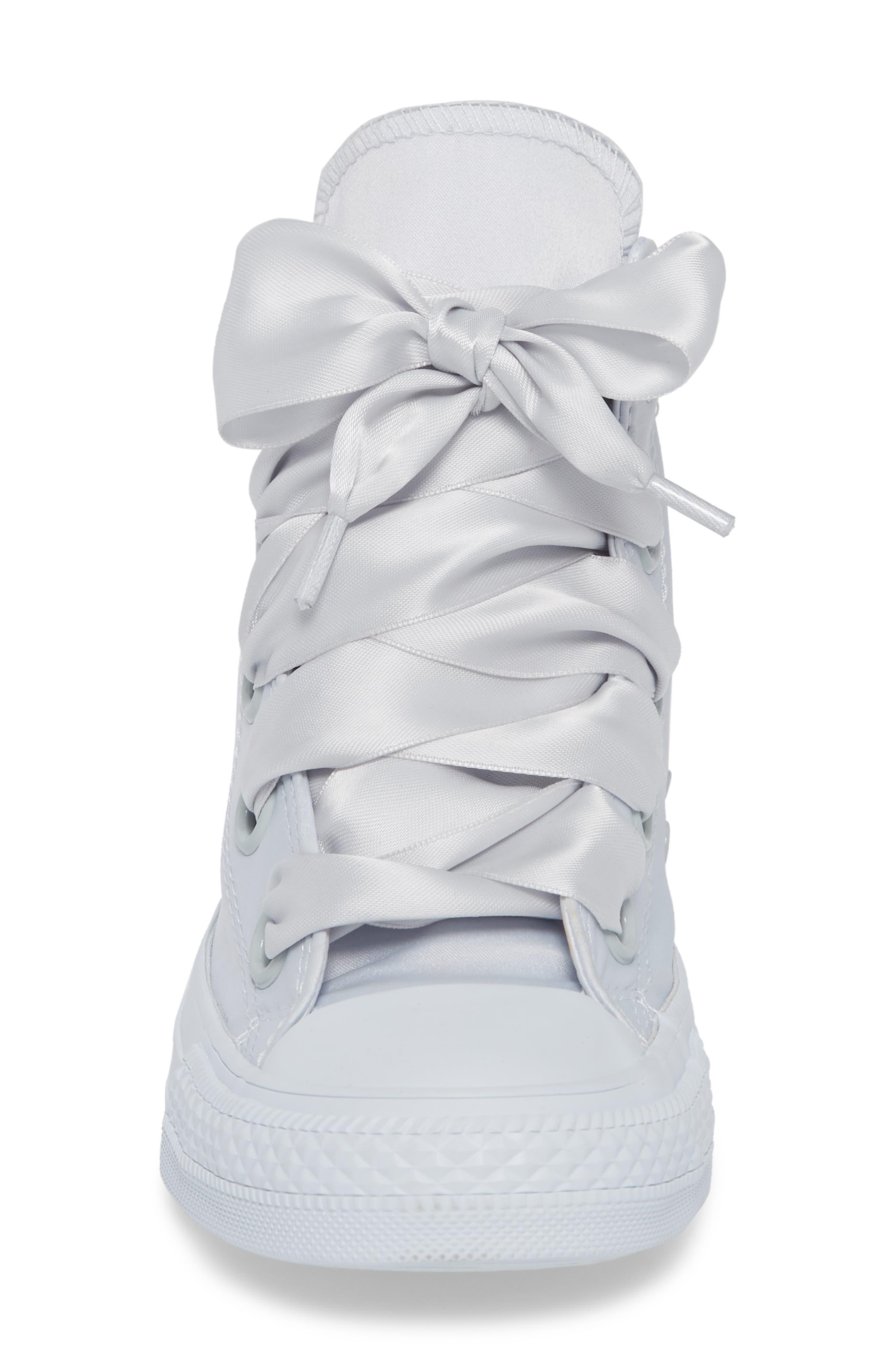 Chuck Taylor<sup>®</sup> All Star<sup>®</sup> Big Eyelet High Top Sneaker,                             Alternate thumbnail 4, color,                             Platinum