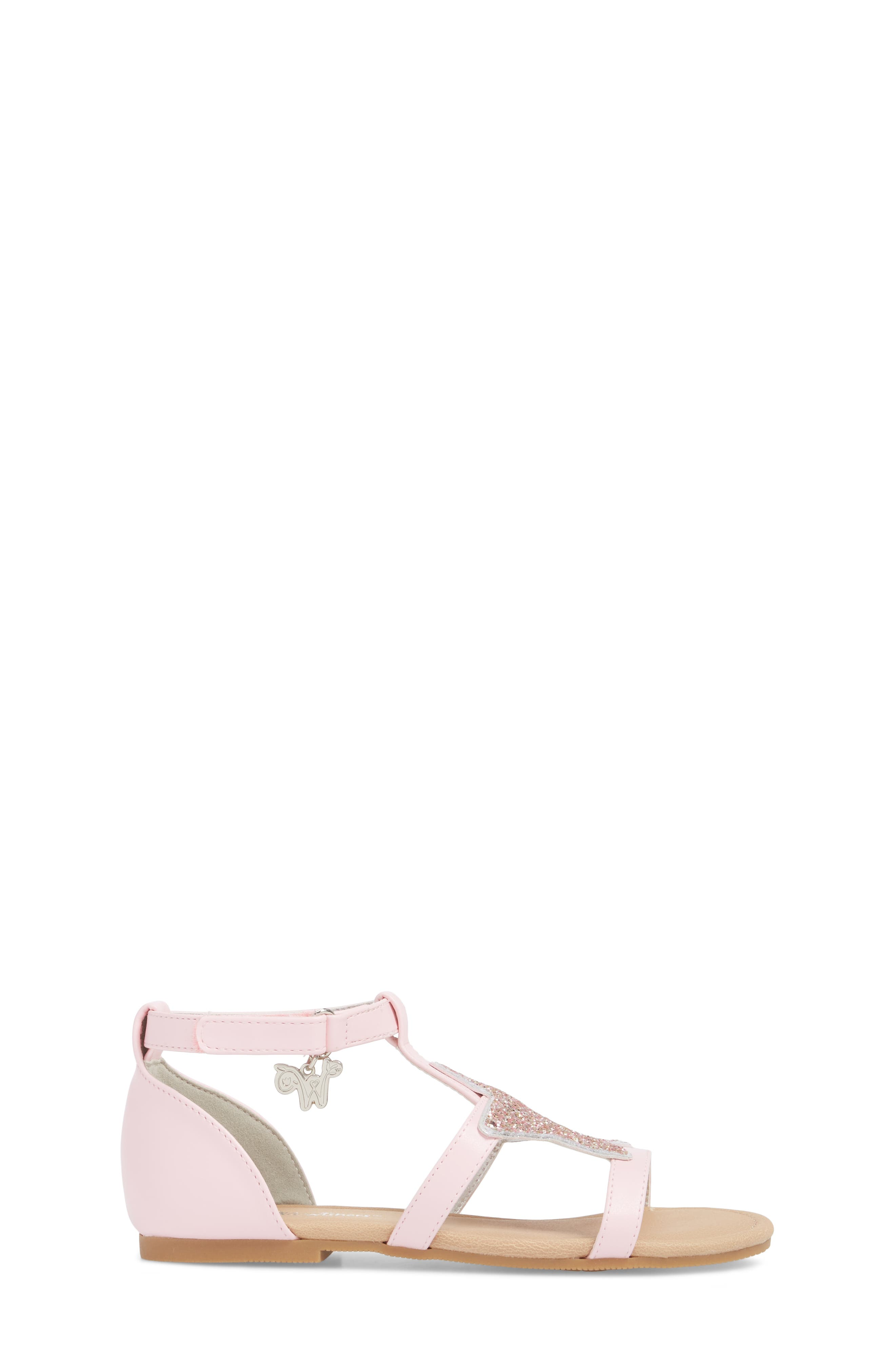 Emerson Glitter Star Sandal,                             Alternate thumbnail 3, color,                             Orchid Pink