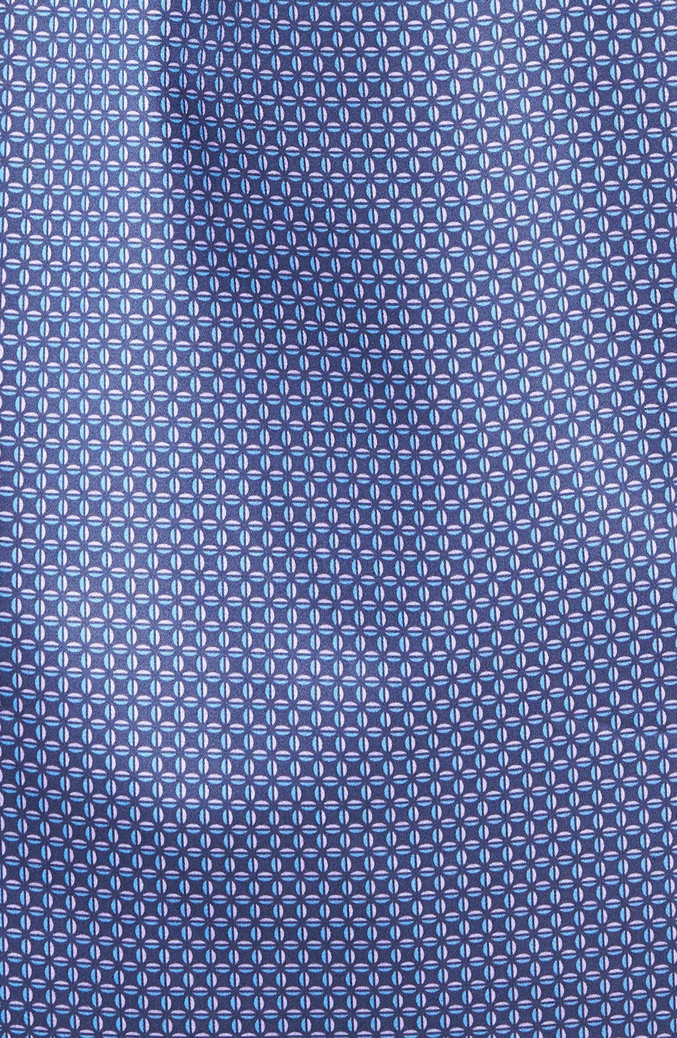 Dark Roast Print Sport Shirt,                             Alternate thumbnail 5, color,                             Yankee Blue