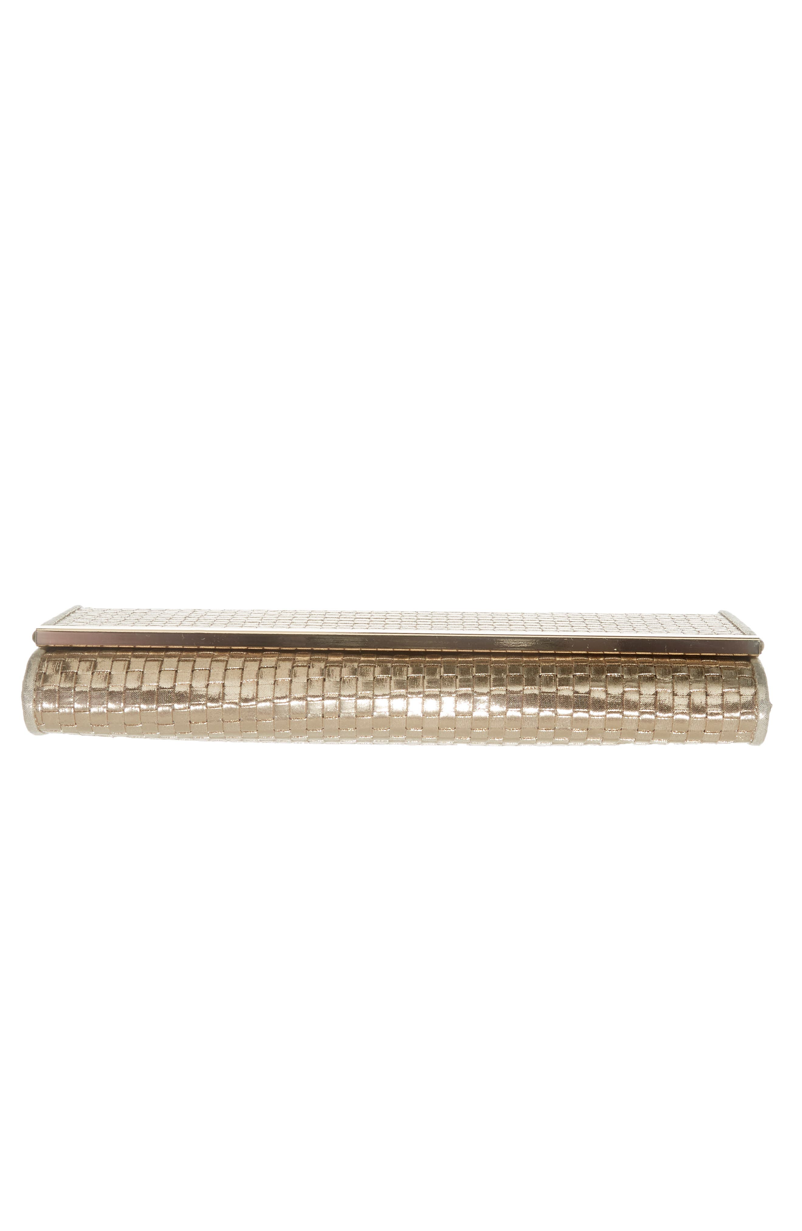 Alternate Image 6  - Nordstrom Woven Faux Leather Metallic Clutch