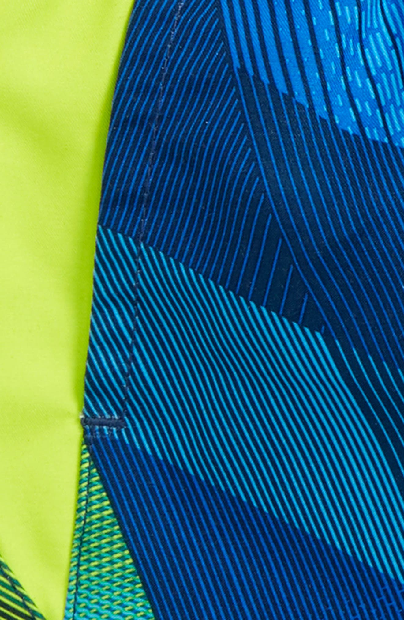 Electric Field Volley Swim Trunks,                             Alternate thumbnail 2, color,                             Blue/ Yellow