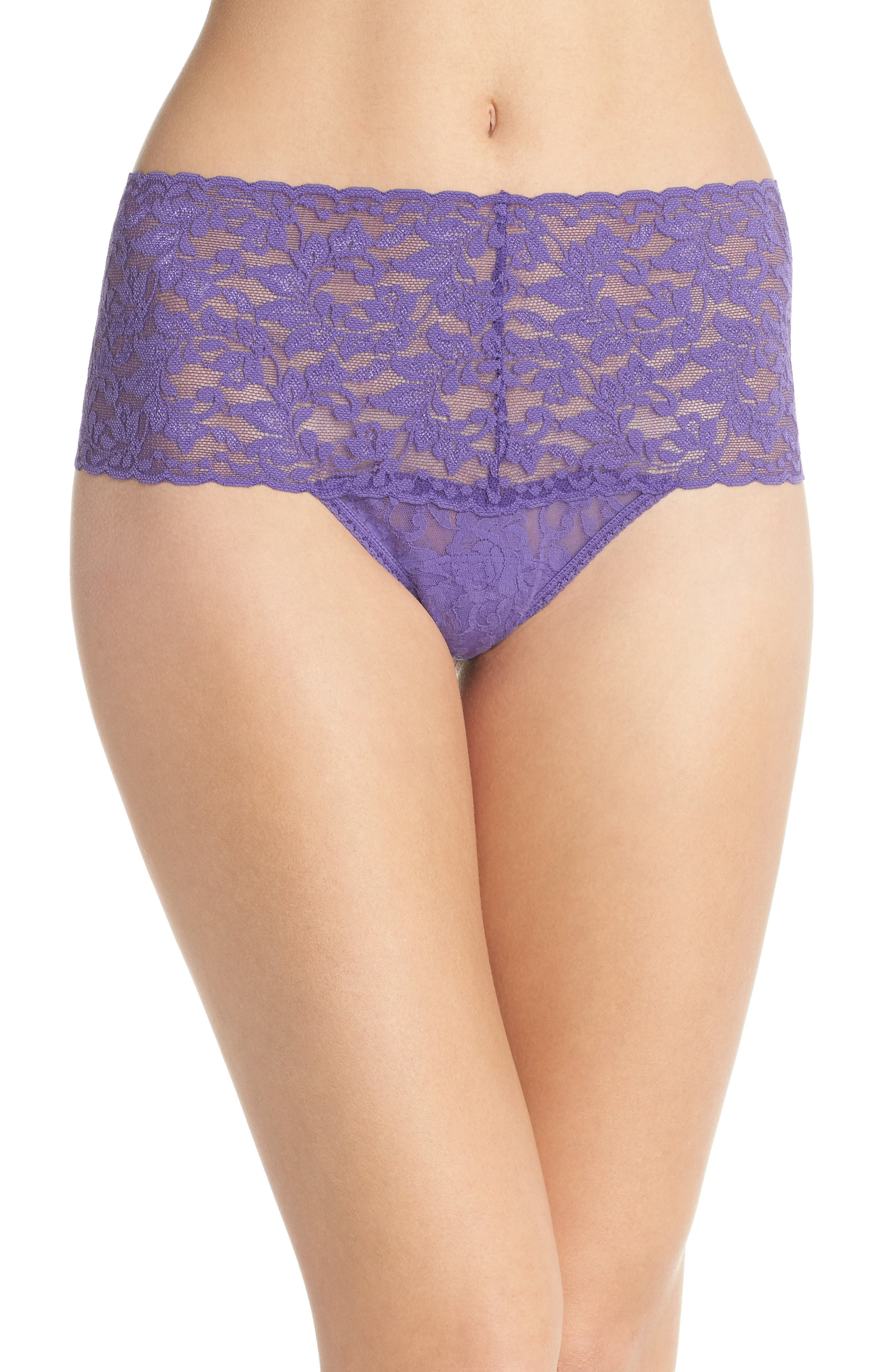'Retro' Thong,                         Main,                         color, Purple Berry