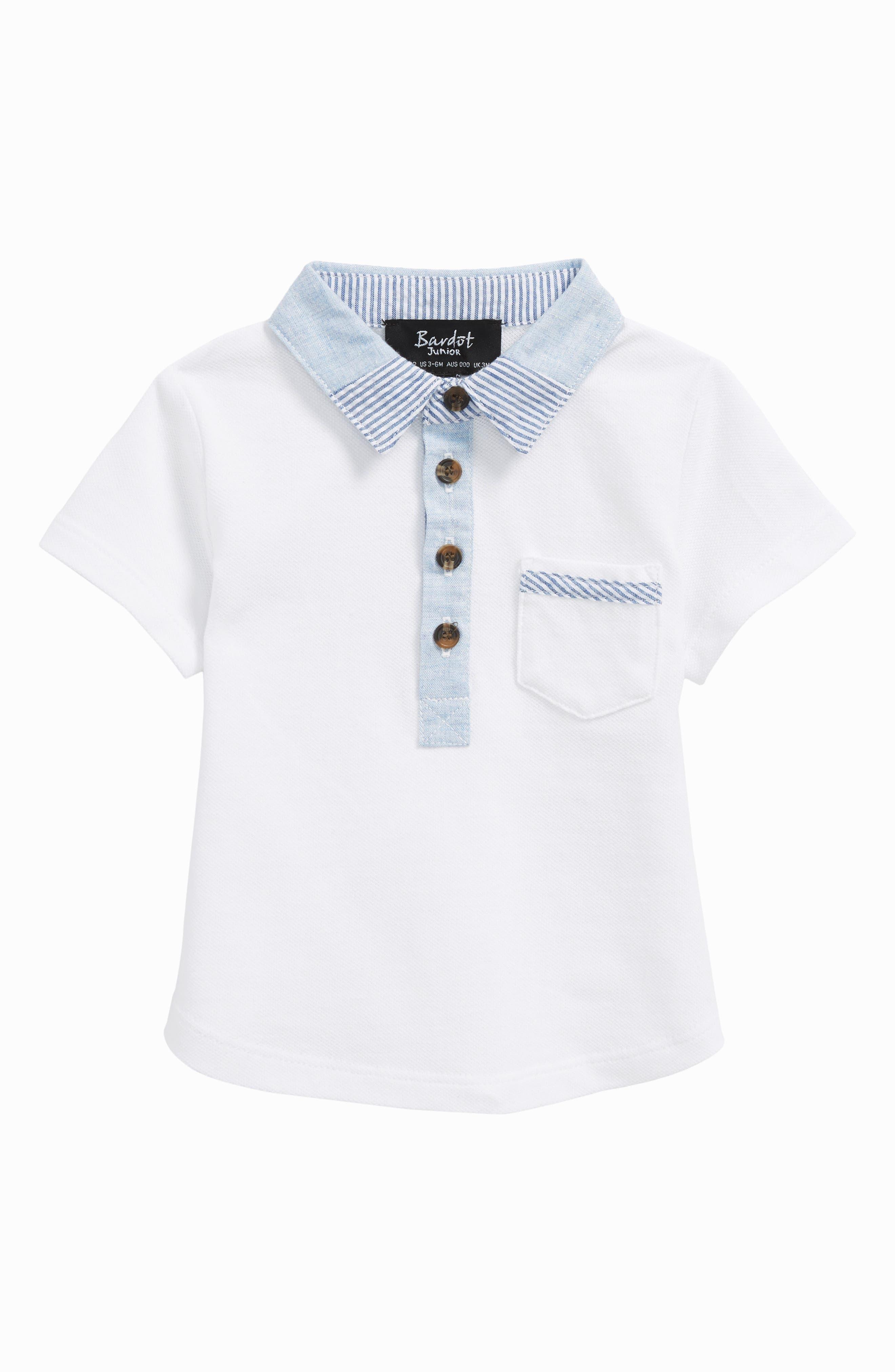 Polo,                         Main,                         color, White