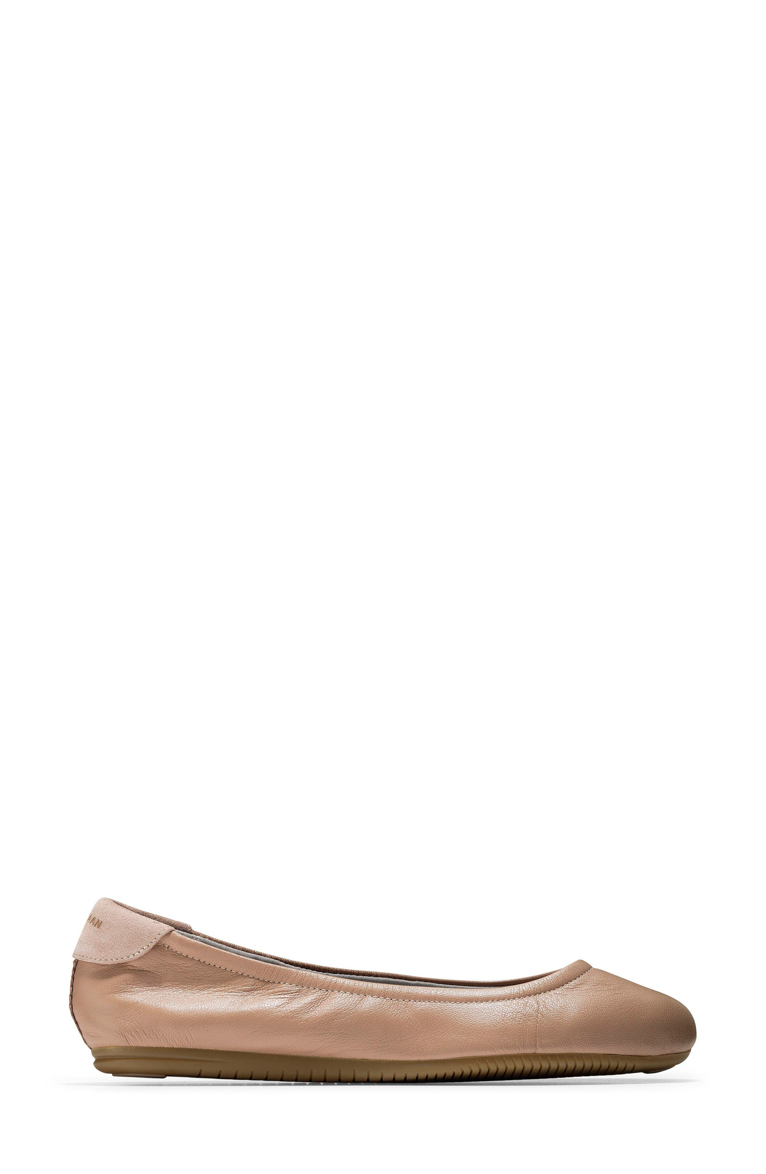 Studiogrand Ballet Flat,                             Alternate thumbnail 3, color,                             Maple Sugar Leather