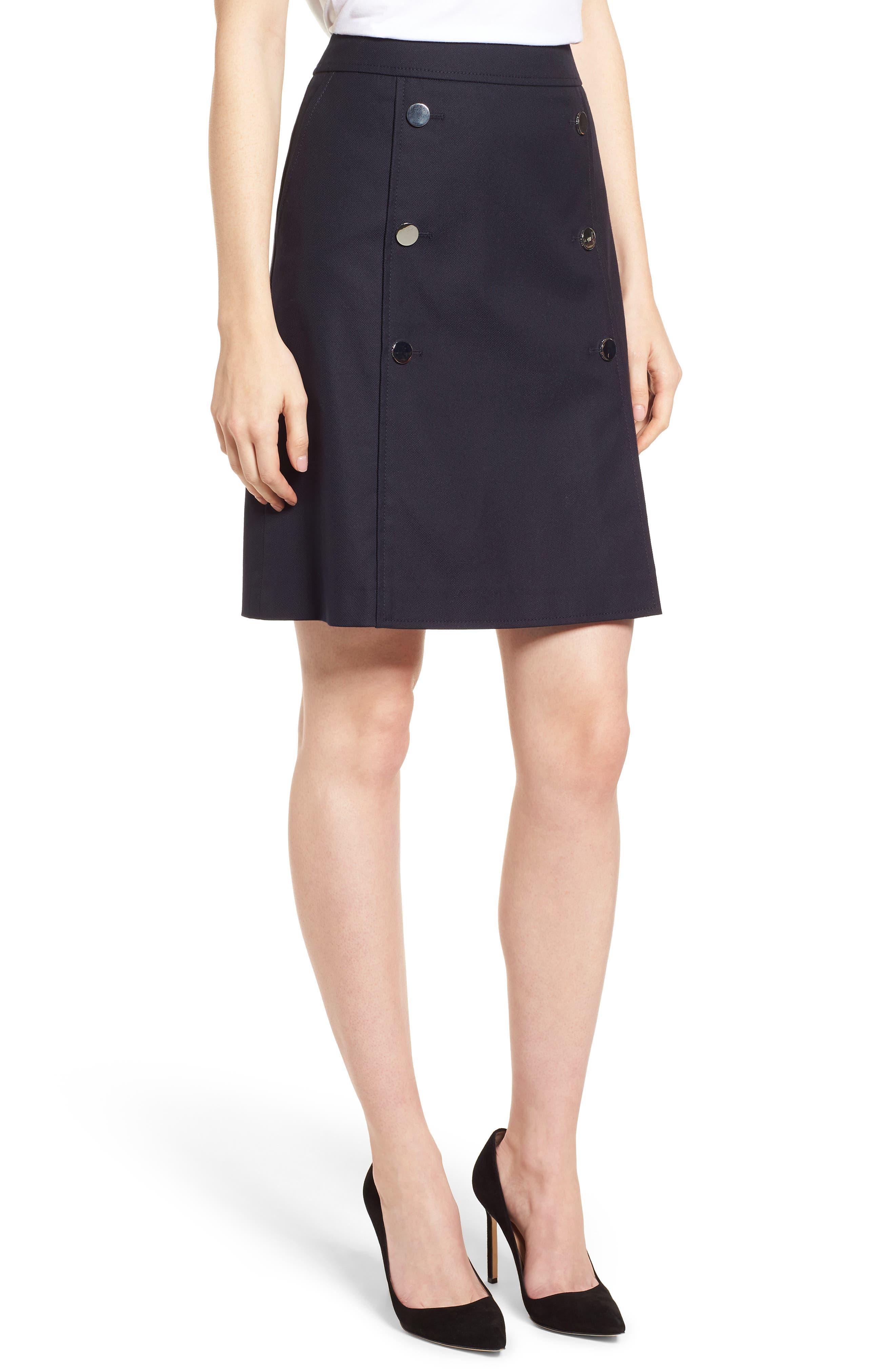 Valareama Sailor Skirt,                             Main thumbnail 1, color,                             Navy