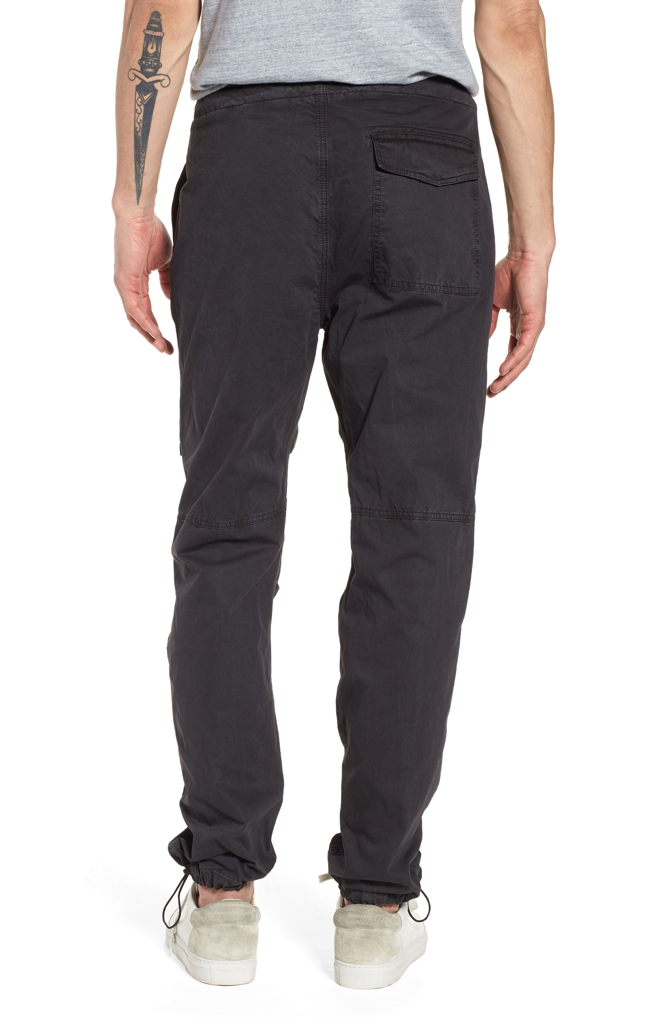 Relaxed Fit Cotton Twill Pants,                             Alternate thumbnail 2, color,                             Grey