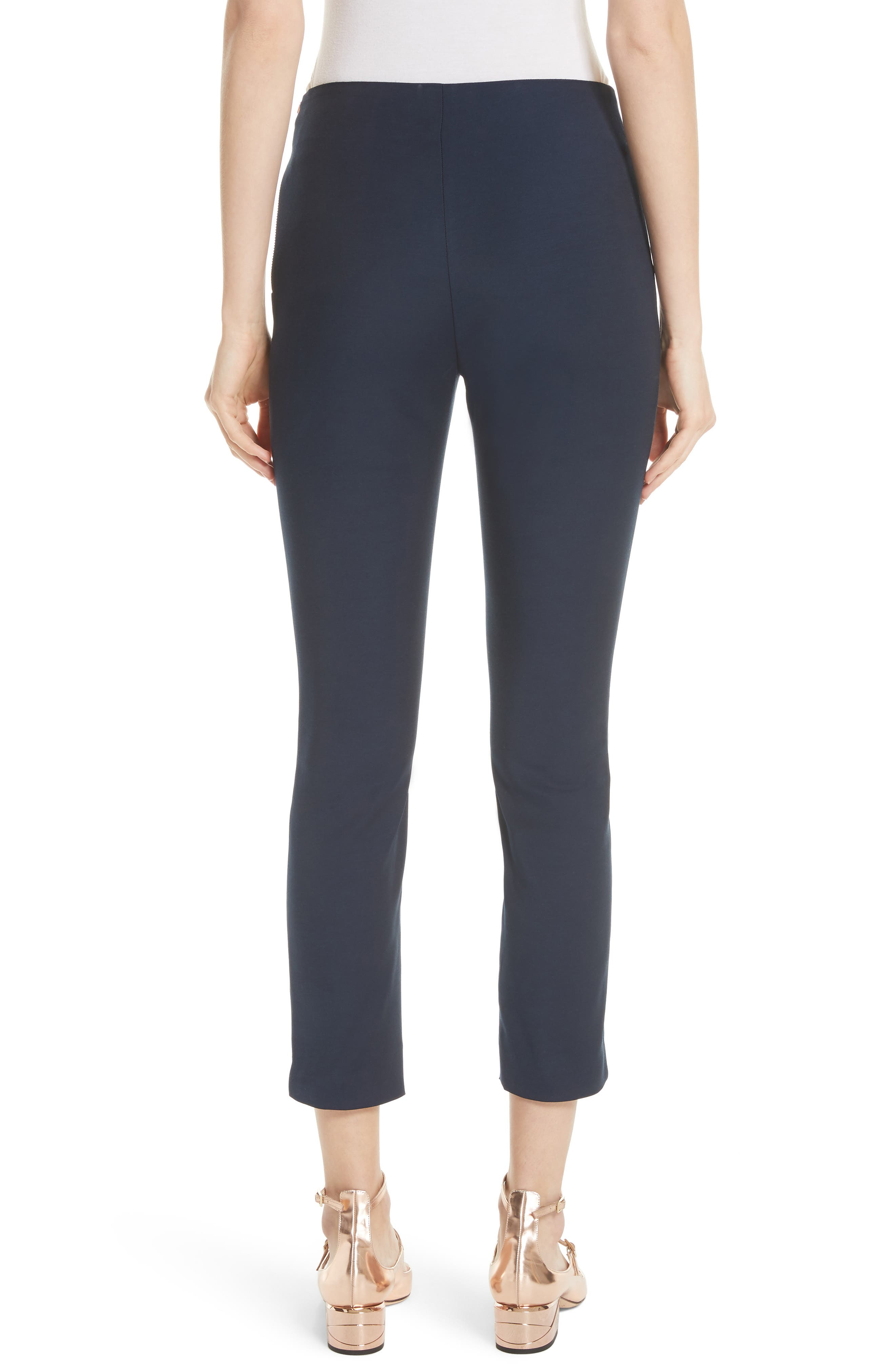 Side Zip Skinny Pants,                             Alternate thumbnail 2, color,                             Dark Blue