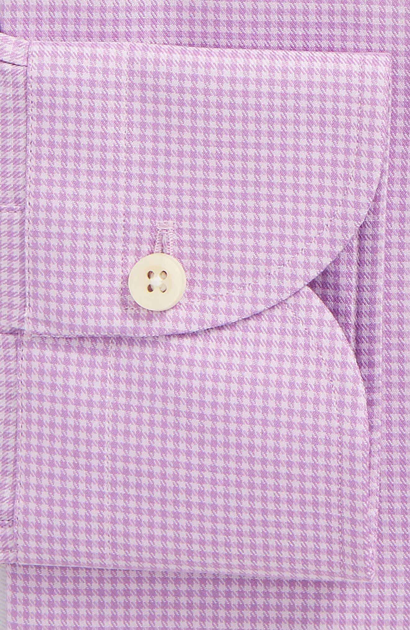 Innis Slim Fit Check Dress Shirt,                             Alternate thumbnail 5, color,                             Lilac