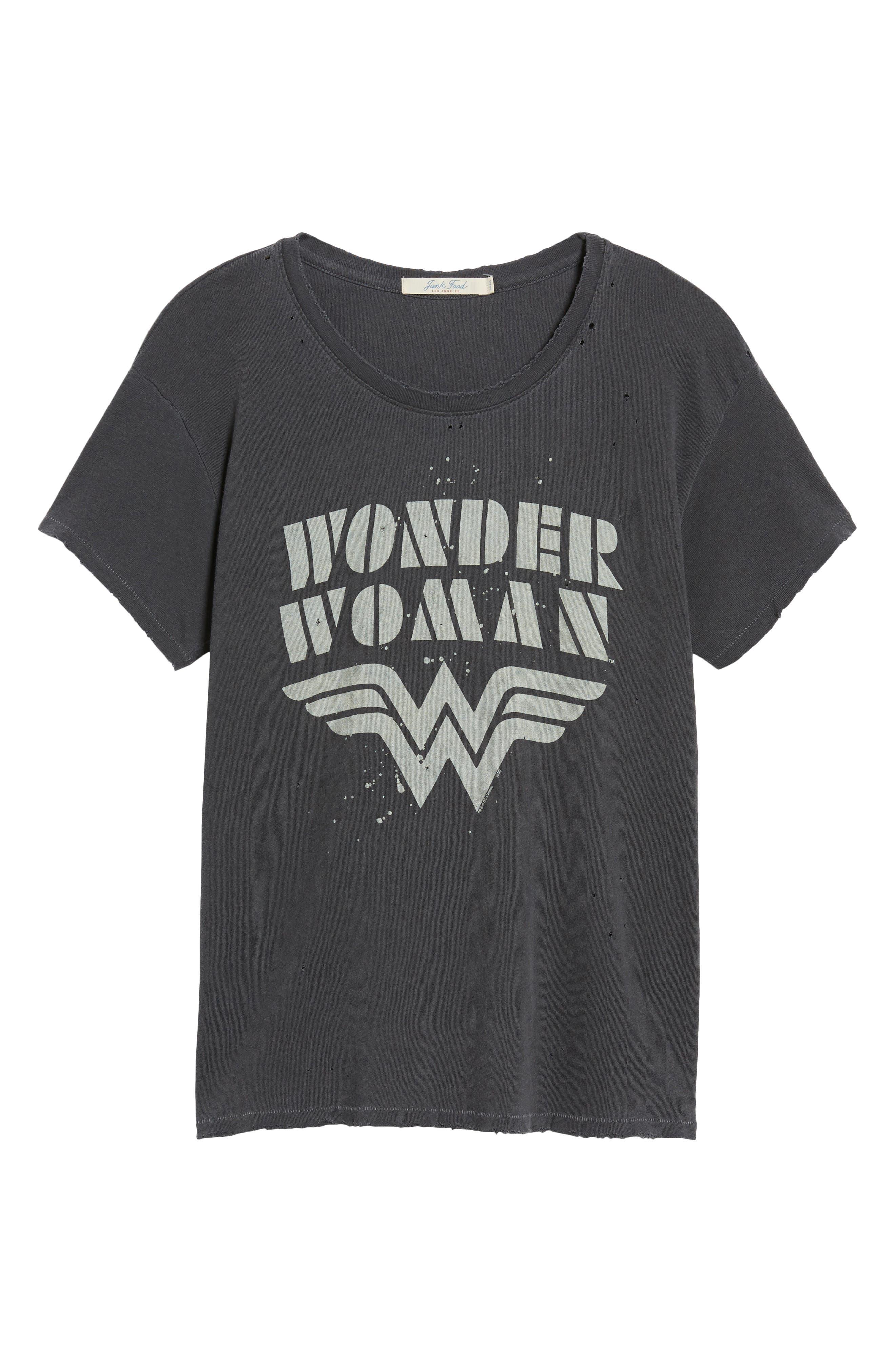 Wonder Woman Tee,                             Alternate thumbnail 7, color,                             Vintage Black