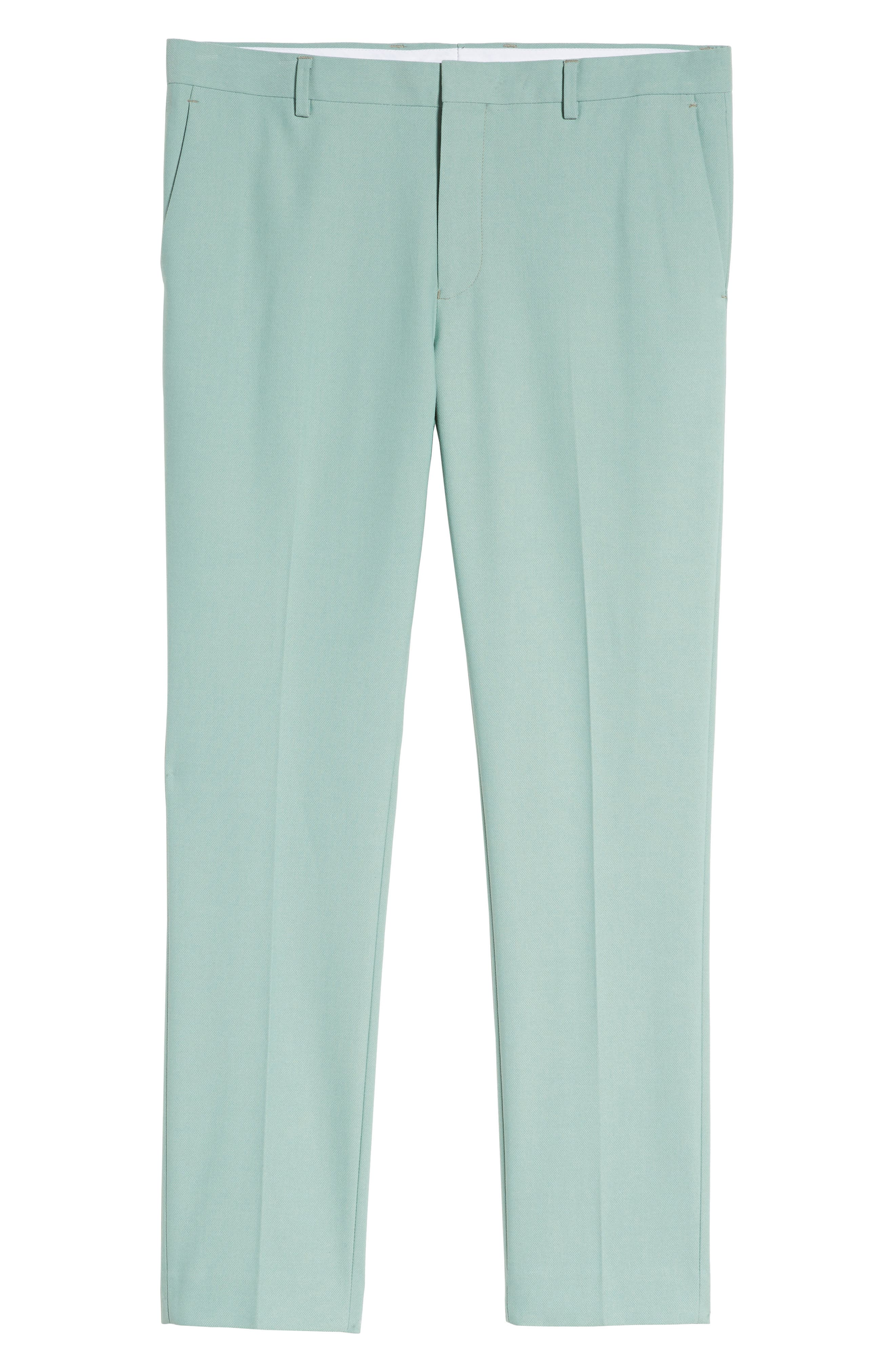 Skinny Fit Suit Trousers,                             Alternate thumbnail 7, color,                             Green