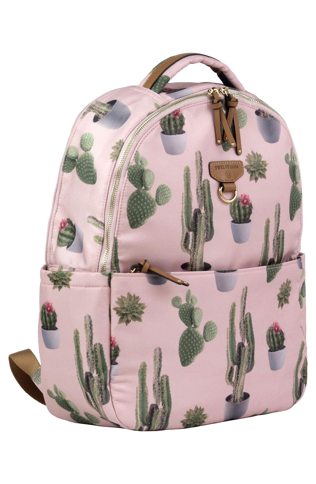 On-the-Go Water Resistant Diaper Backpack,                             Alternate thumbnail 5, color,                             Cactus